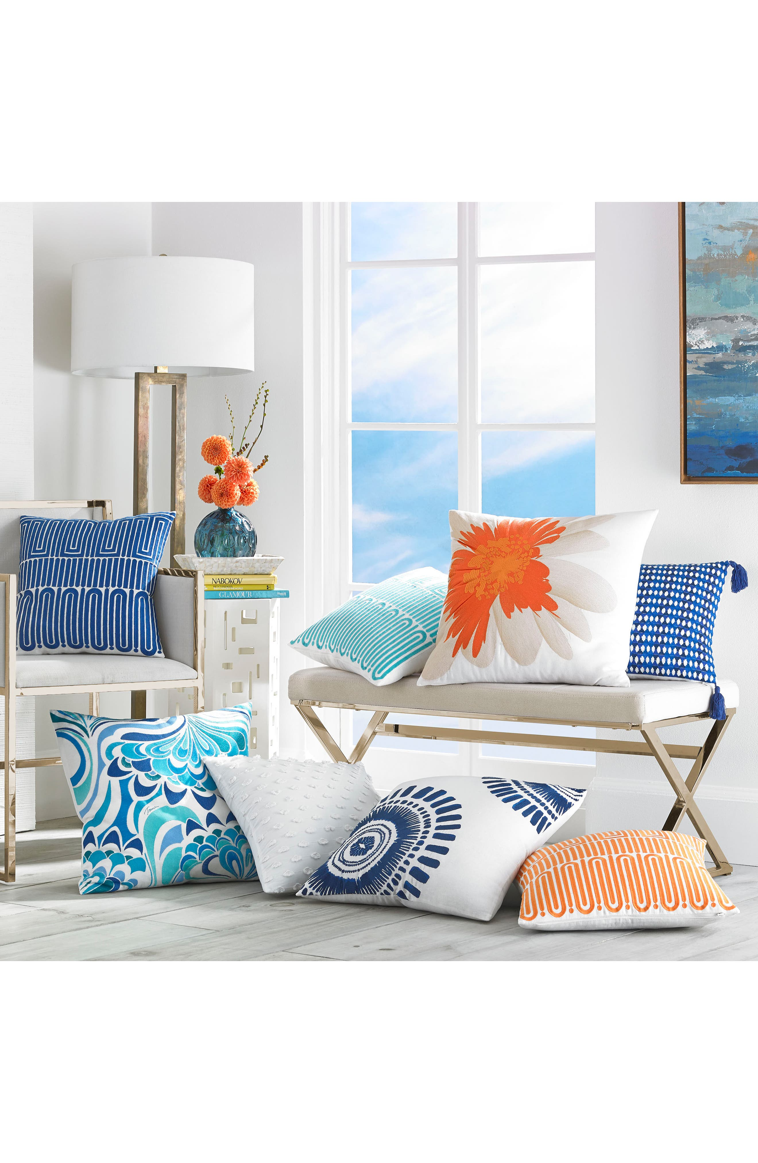 Racket Club Accent Pillow,                             Alternate thumbnail 4, color,                             Turquoise