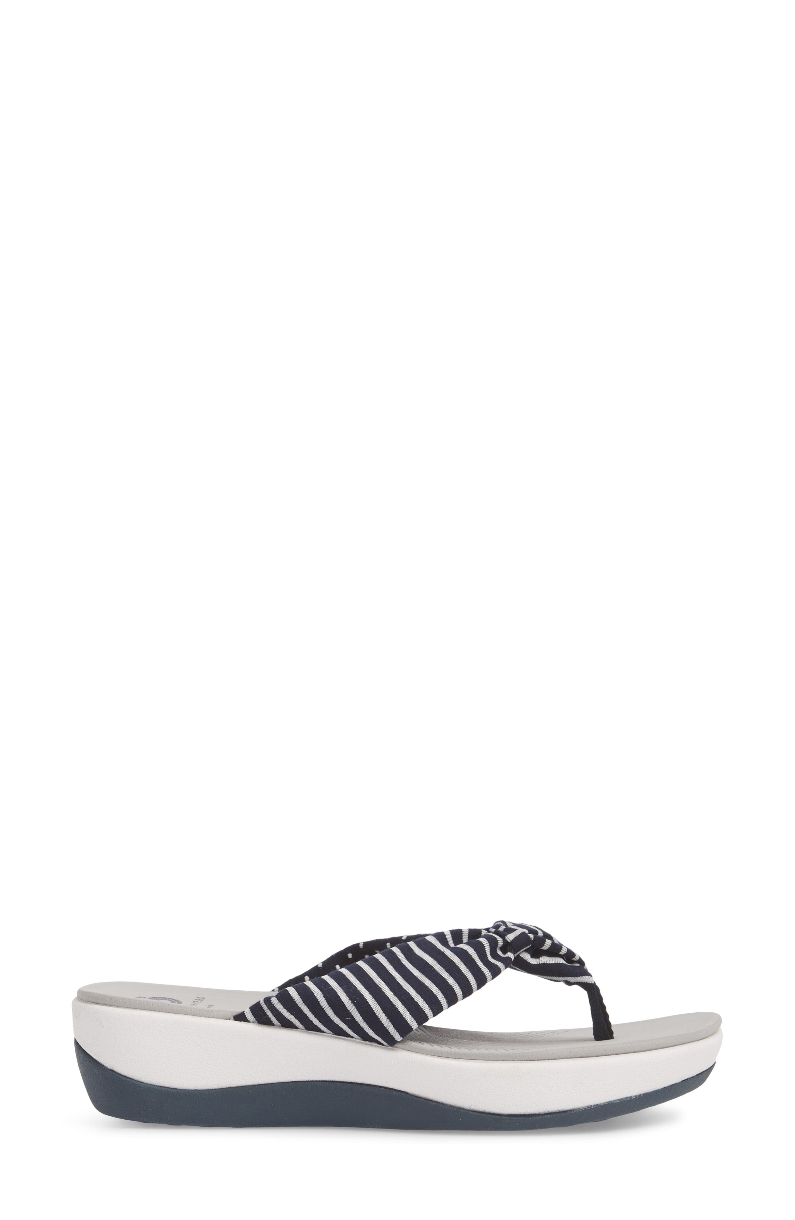 Arla Glison Flip Flop,                             Alternate thumbnail 3, color,                             Navy Fabric
