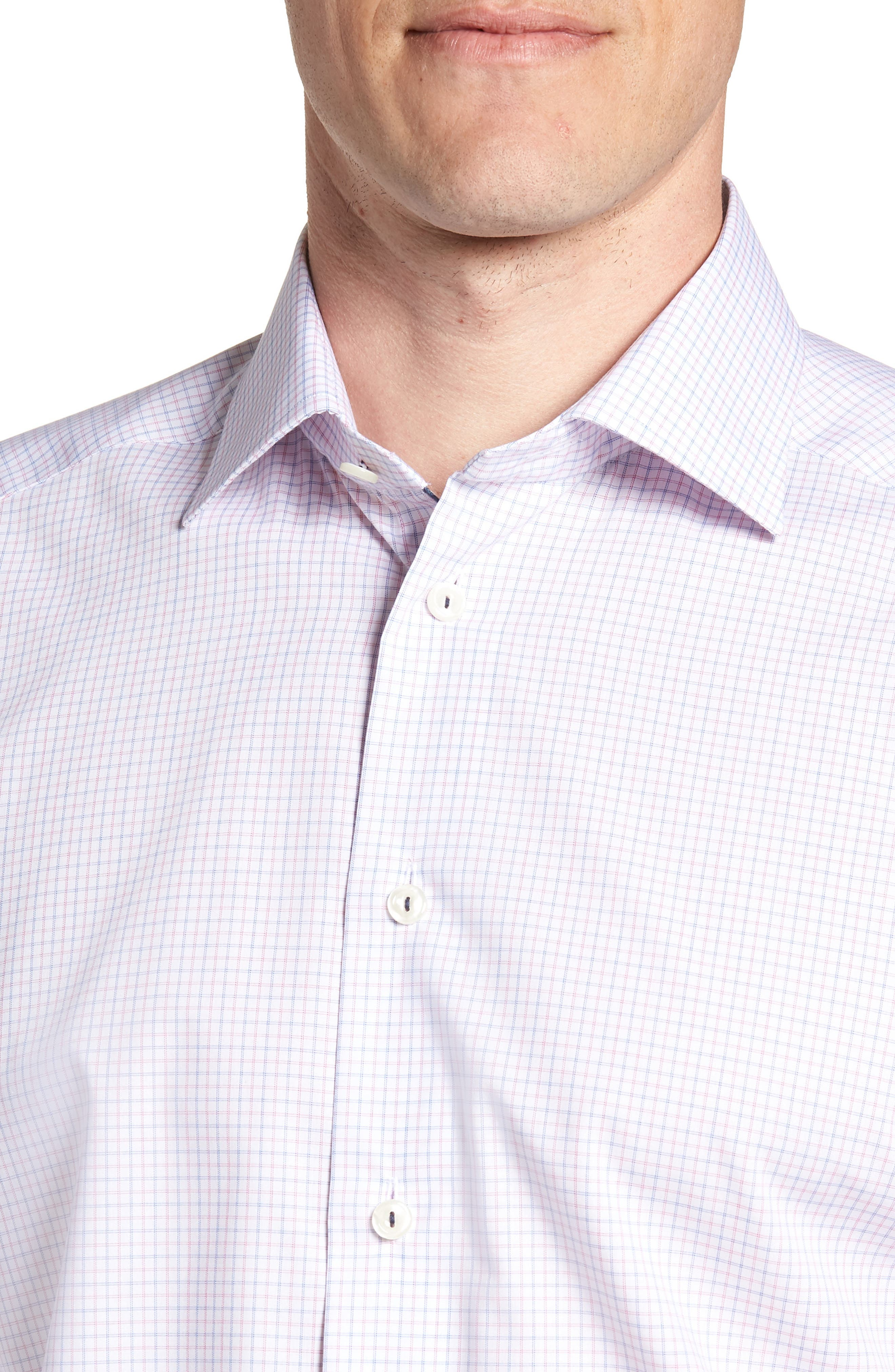 Contemporary Fit Check Dress Shirt,                             Alternate thumbnail 2, color,                             Pink