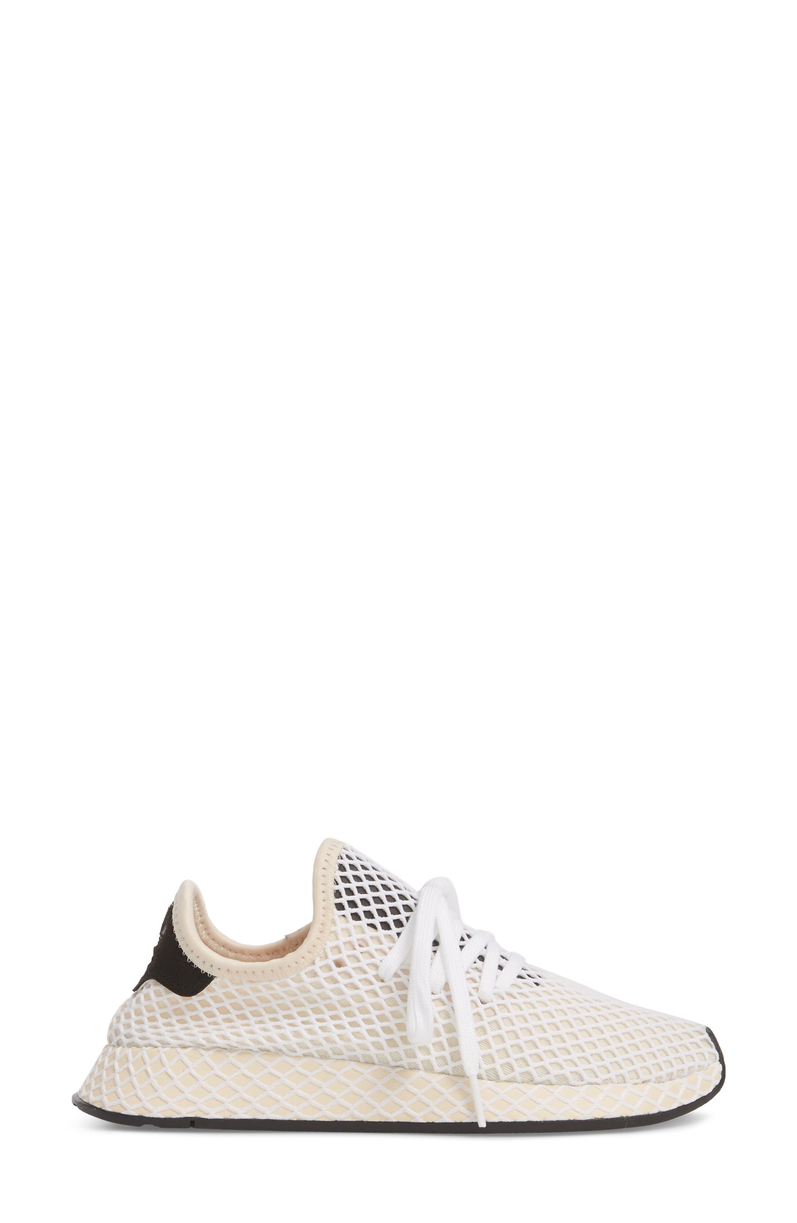 Deerupt Runner Sneaker,                             Alternate thumbnail 3, color,                             Linen/ Linen/ Ecru Tint