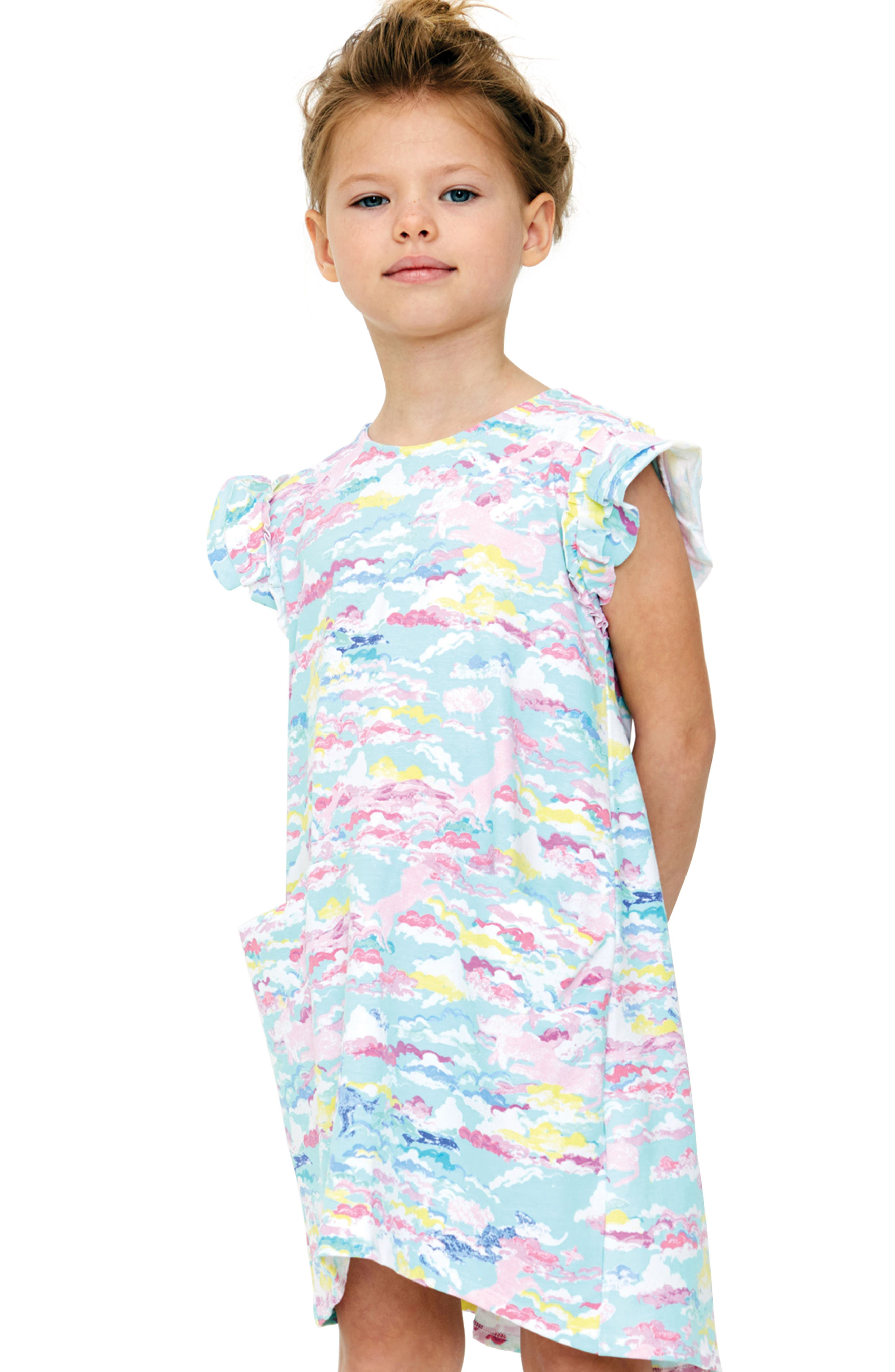 Reagan Print Dress,                             Alternate thumbnail 2, color,                             Dad