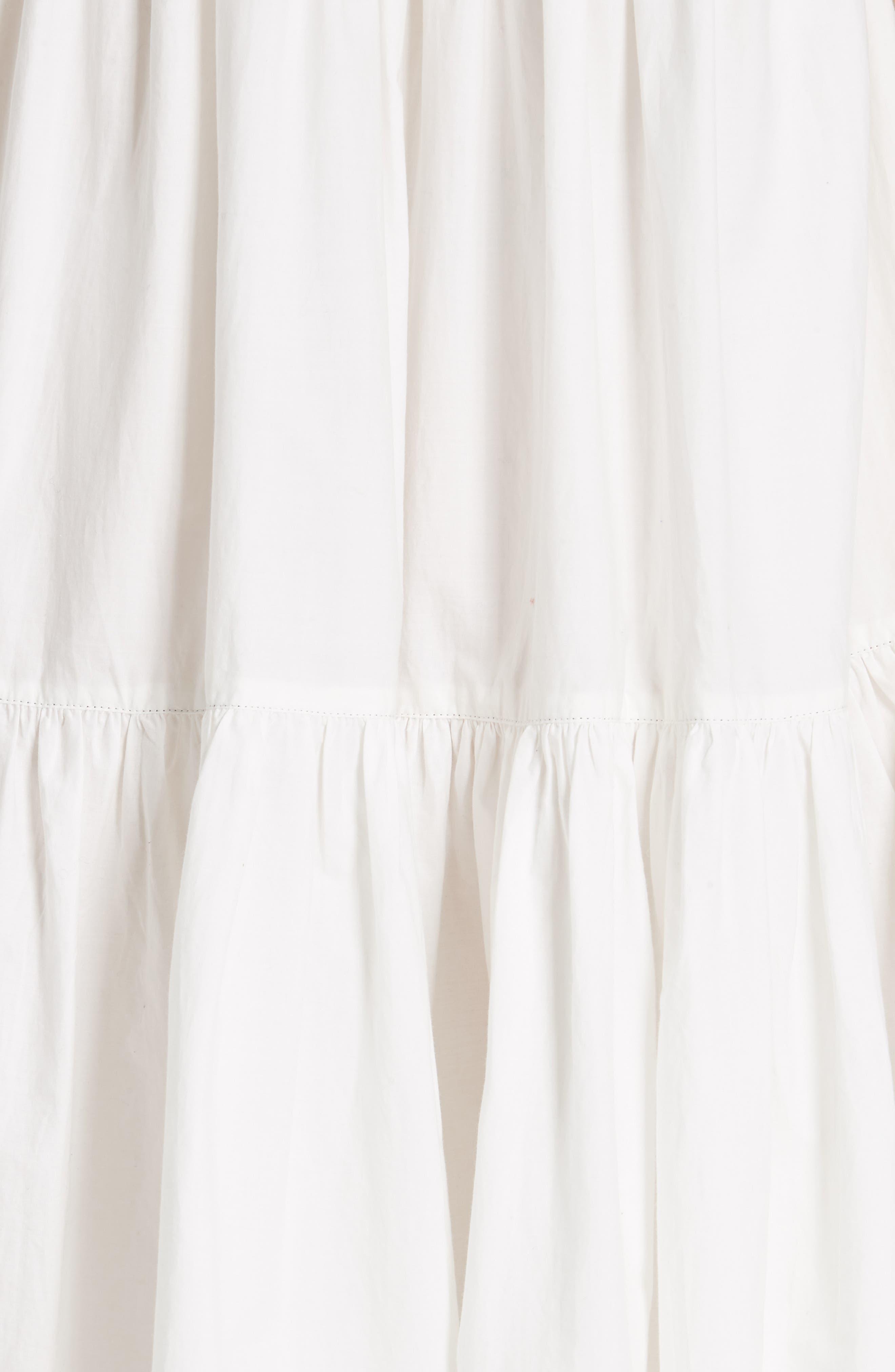 Rosemarie Cotton Poplin Dress,                             Alternate thumbnail 5, color,                             Blanc
