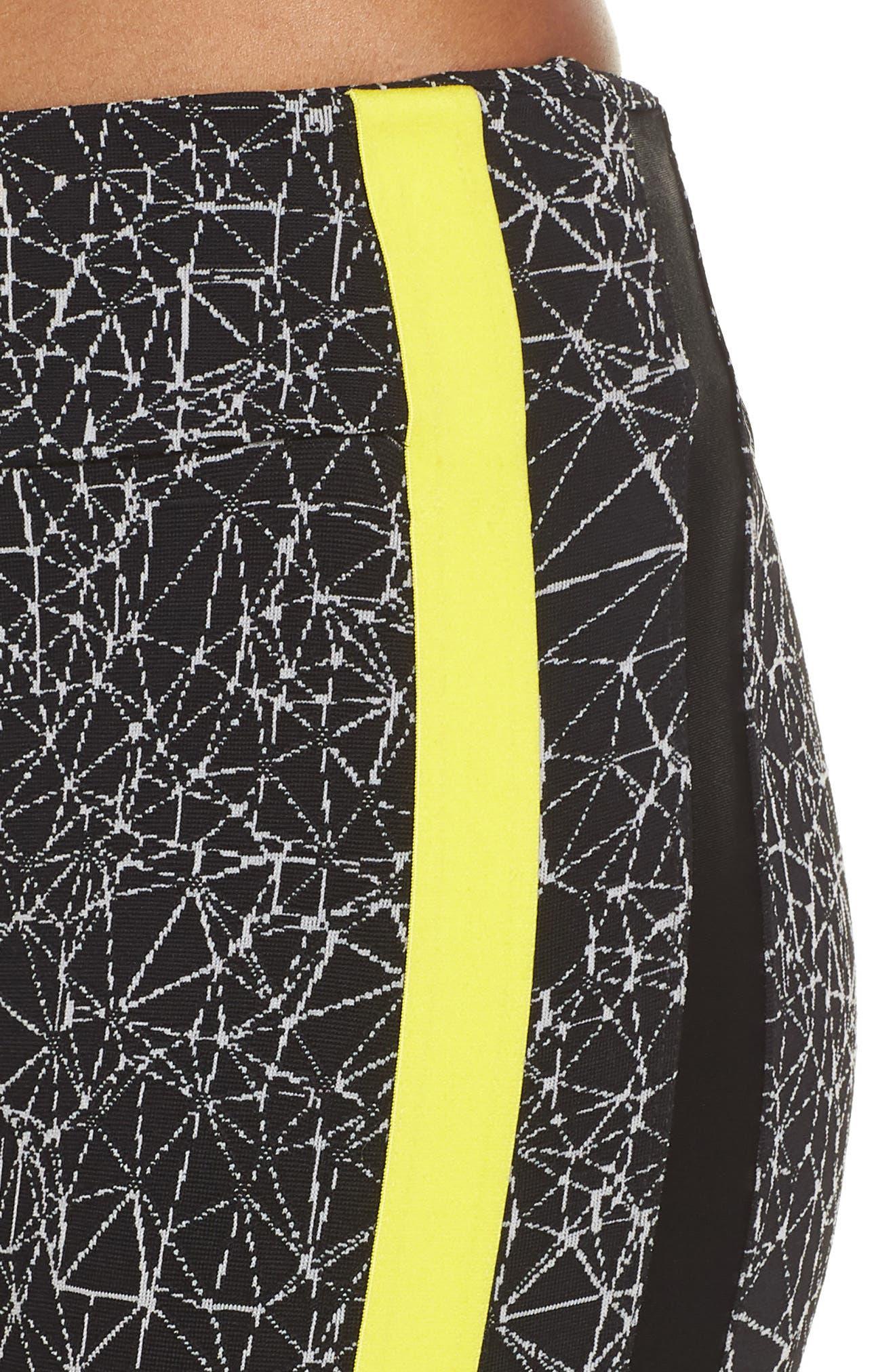 Molecular Wren High Waist Leggings,                             Alternate thumbnail 4, color,                             Molecular Black