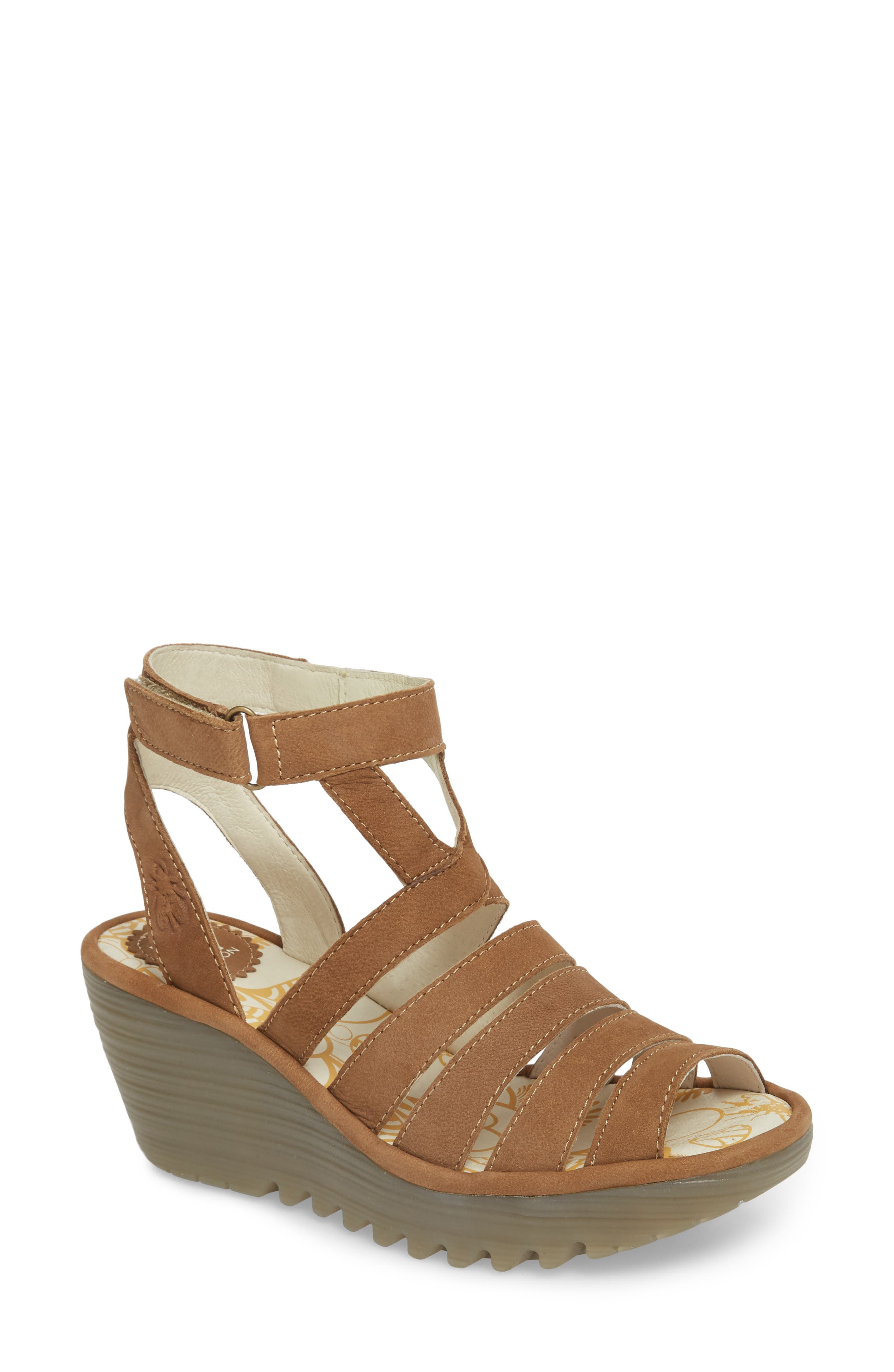 Fly London Yeba Wedge Sandal (Women)