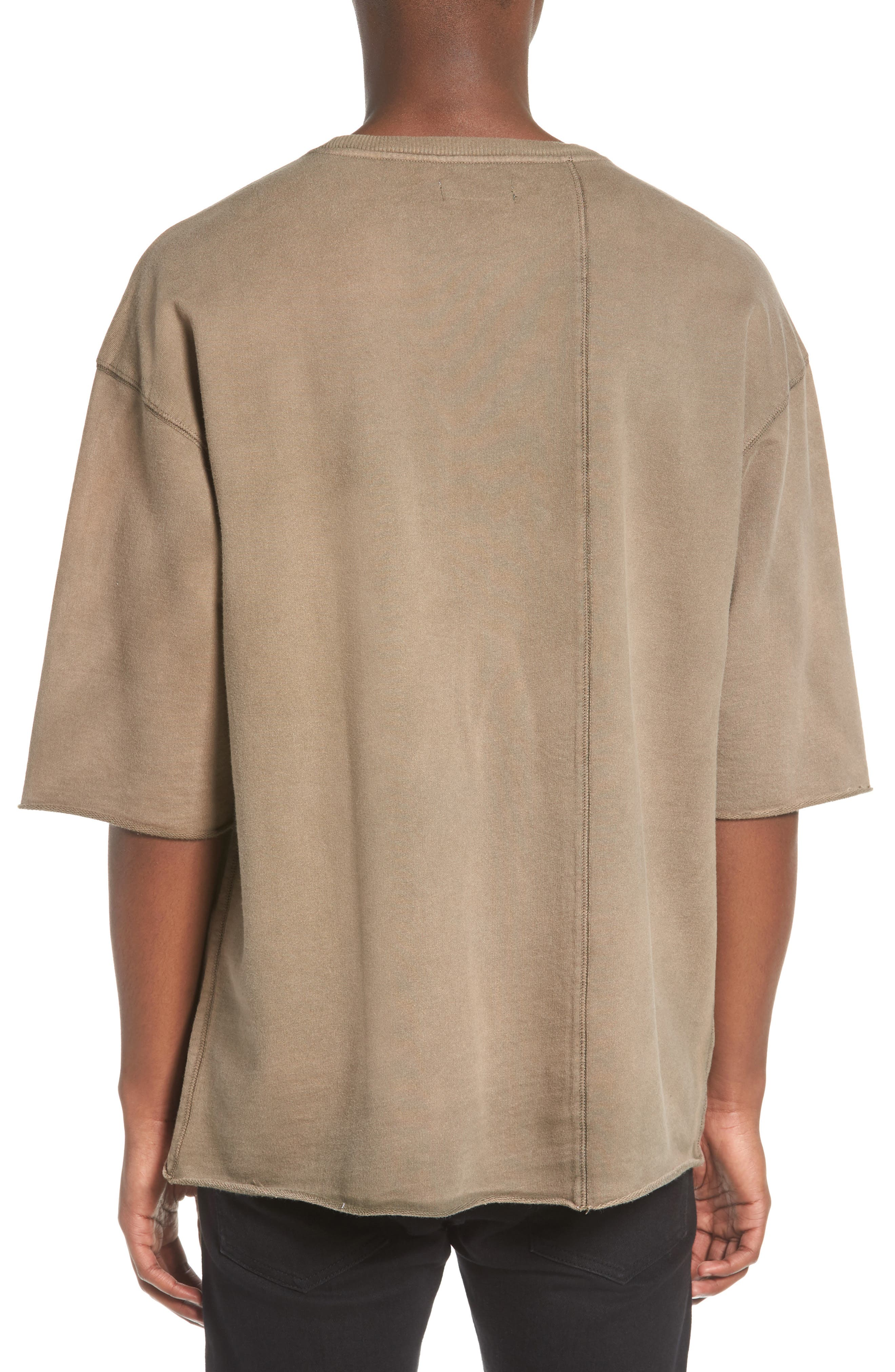 Washed Terry Pullover,                             Alternate thumbnail 2, color,                             Olive Dusk