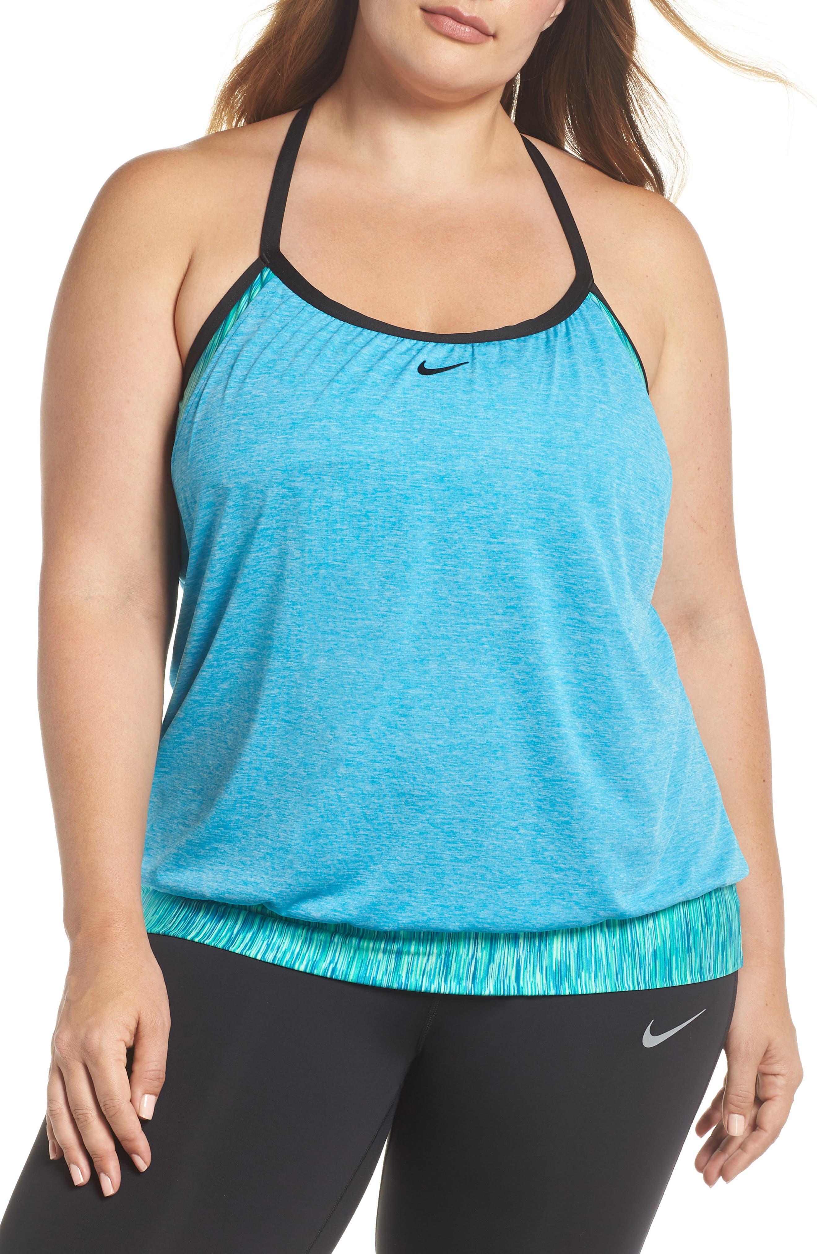 Nike Layered Sport Tankini Top (Plus Size)