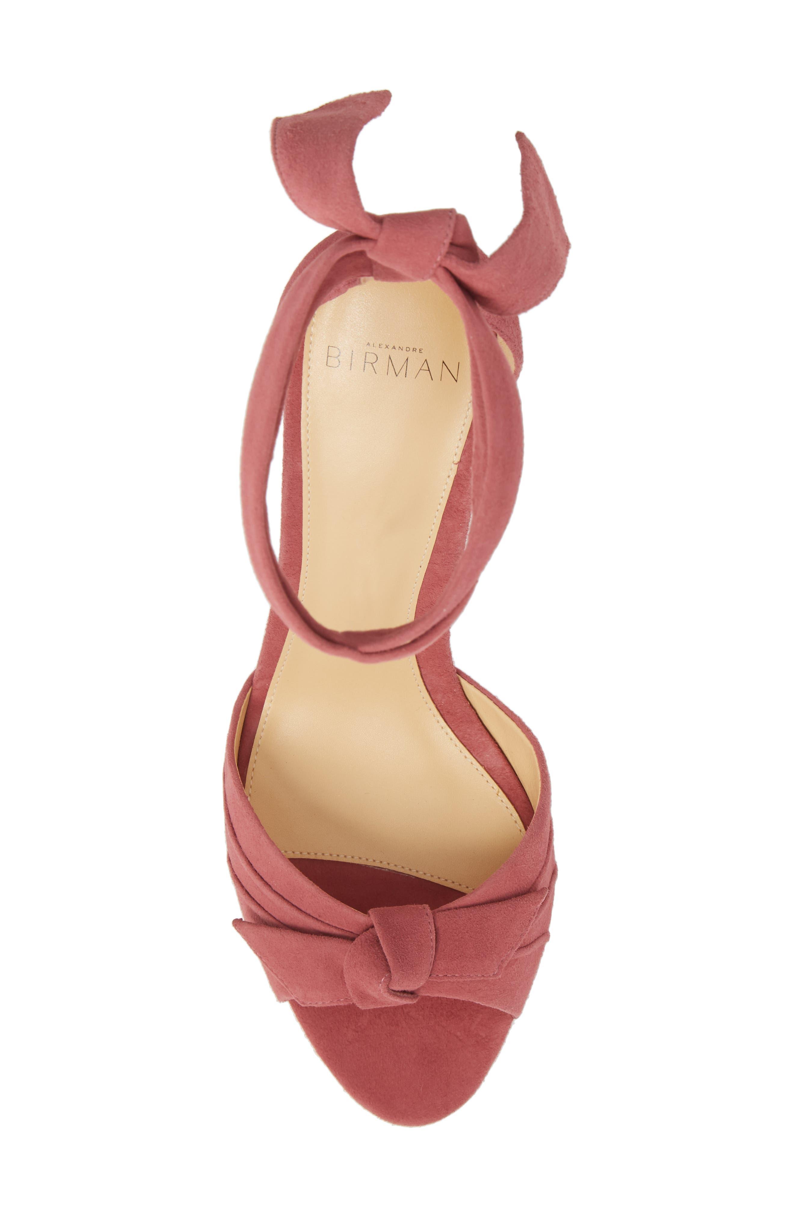 Clarita Ankle Tie Sandal,                             Alternate thumbnail 5, color,                             Dusty Rose