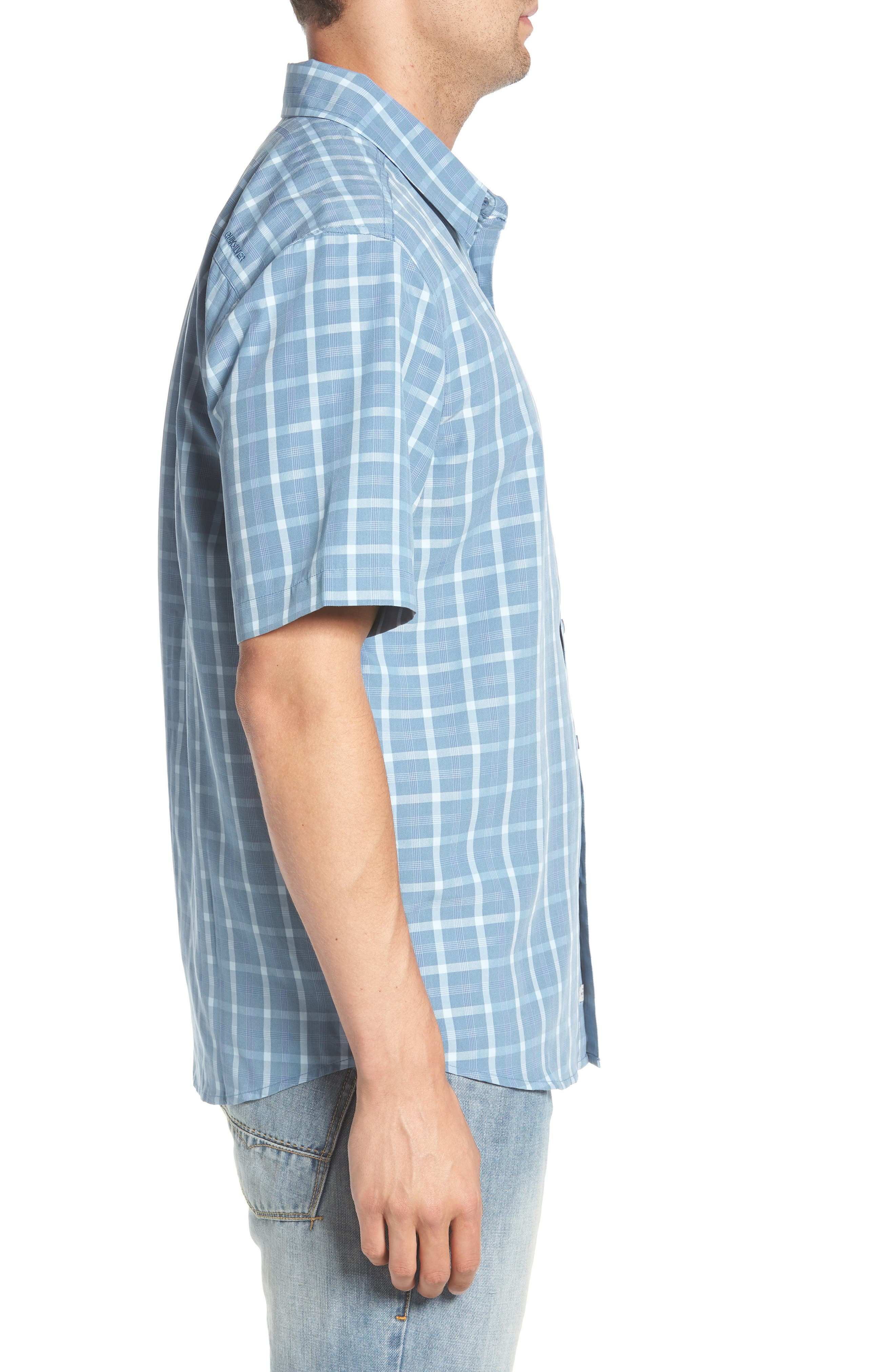 Checked Light Classic Fit Sport Shirt,                             Alternate thumbnail 4, color,                             Blue Shadow