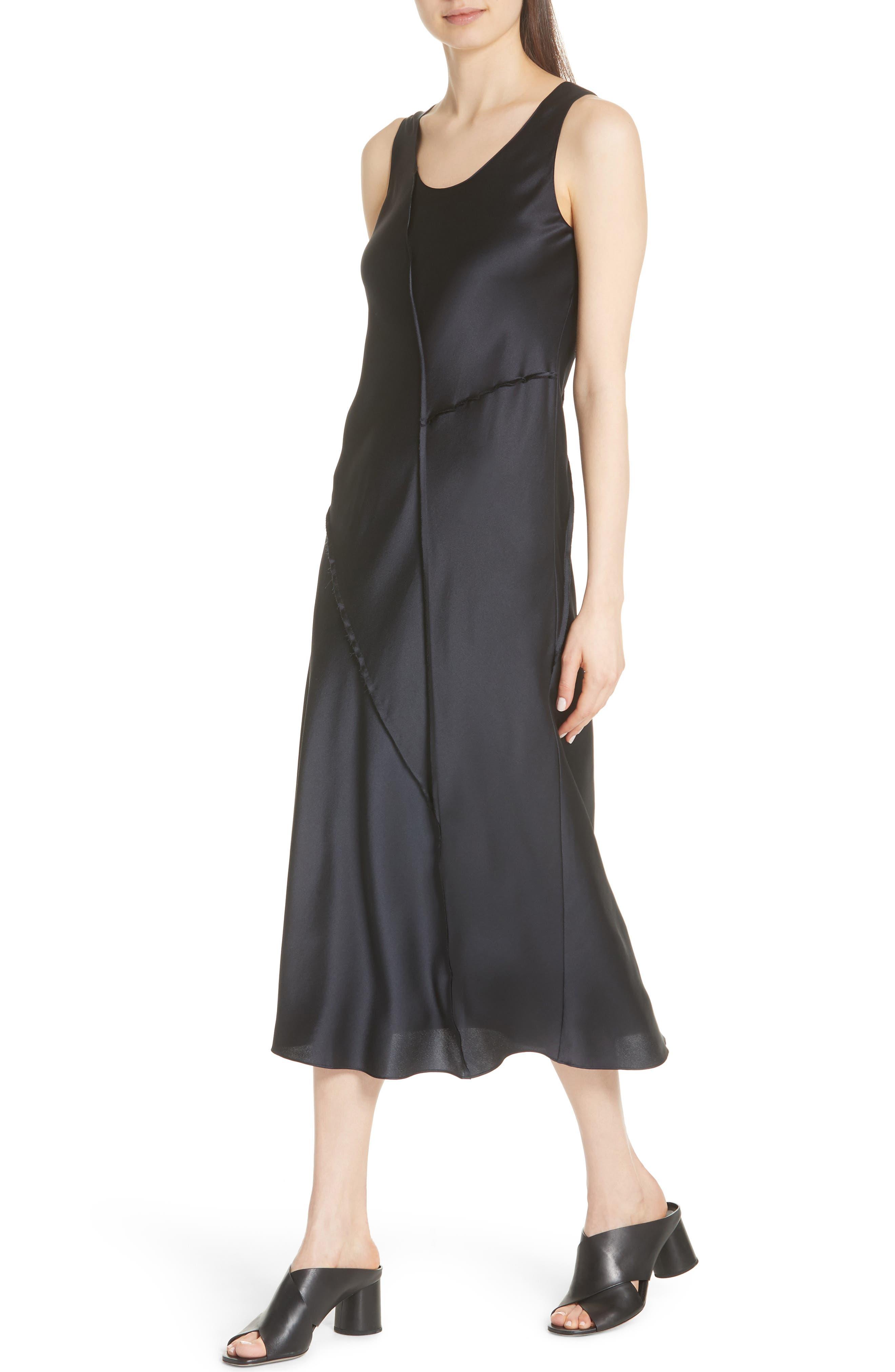 Silk Tank Dress,                             Alternate thumbnail 4, color,                             Iron