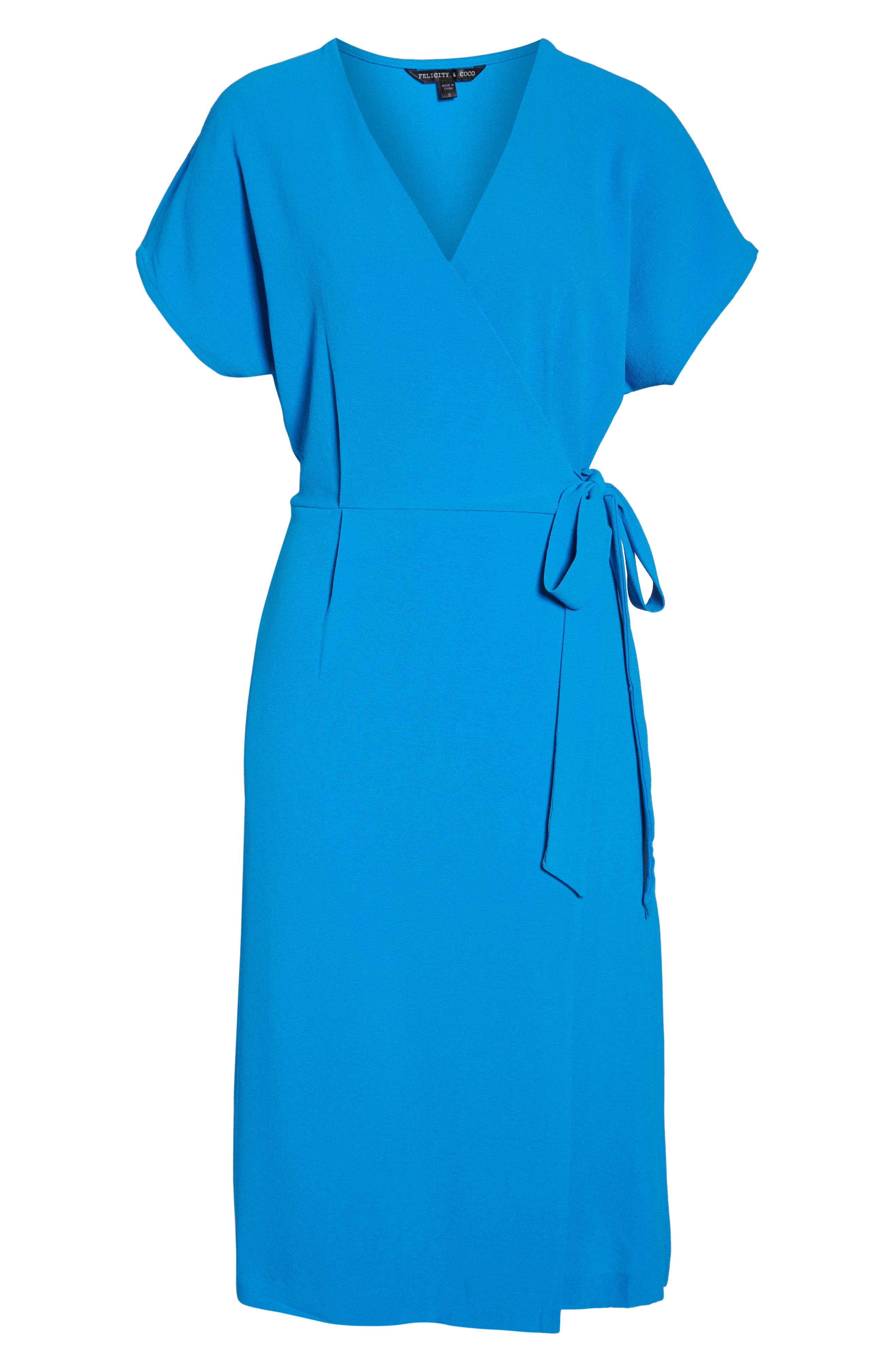 Rita Wrap Dress,                             Alternate thumbnail 7, color,                             Cobalt