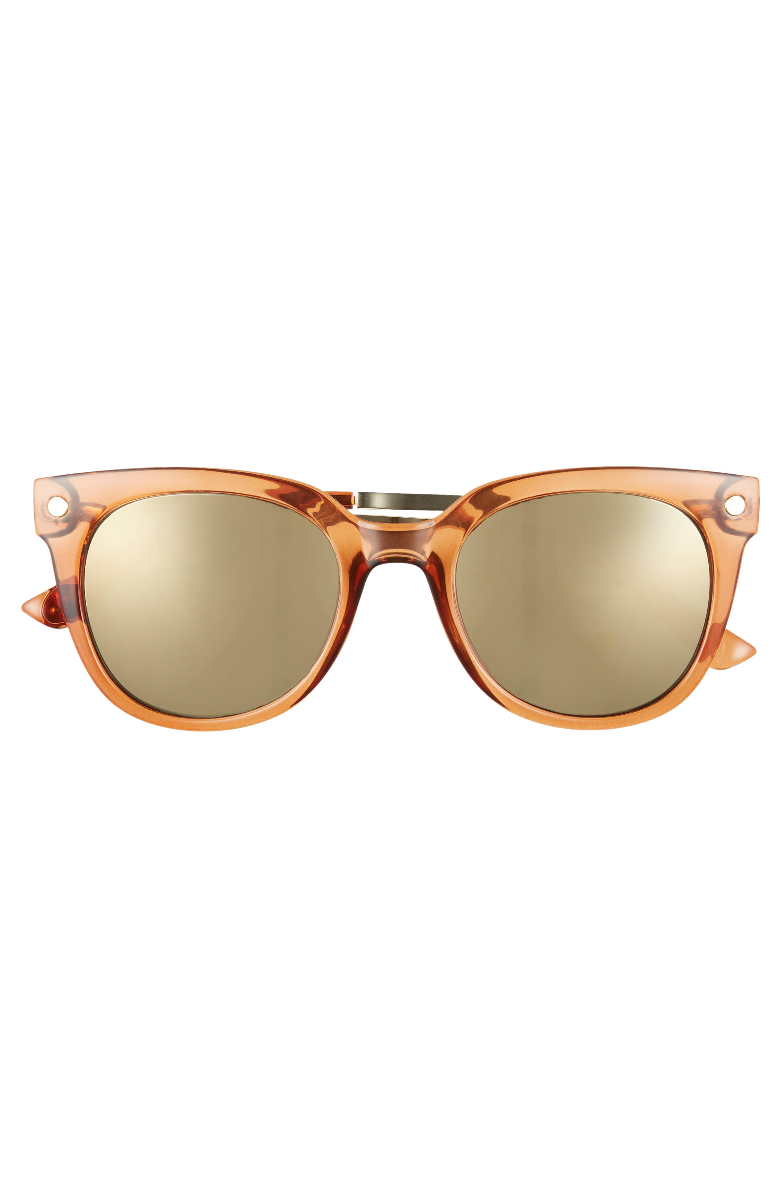 Malabar 52mm Sunglasses,                             Alternate thumbnail 3, color,                             Maple