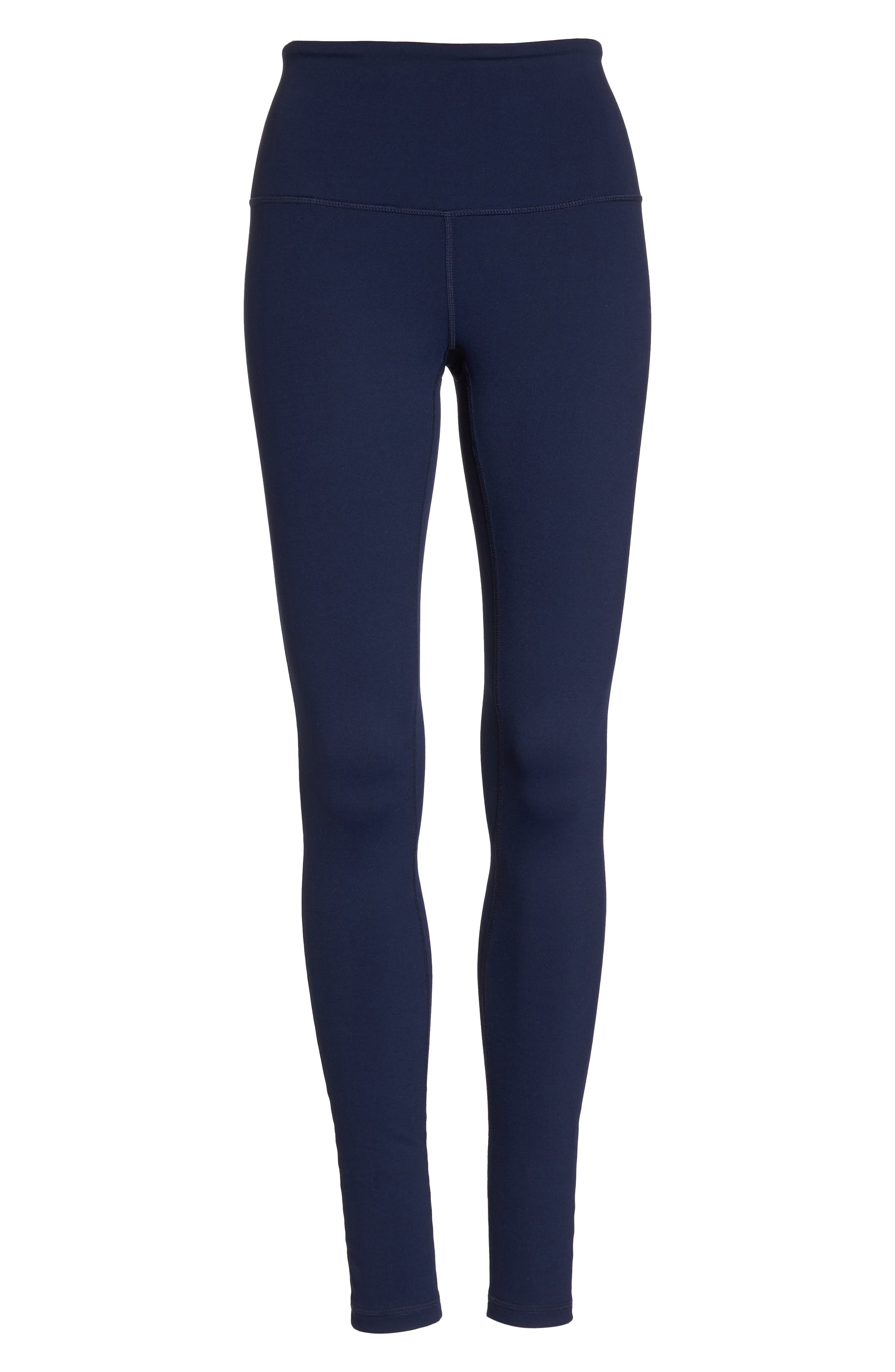 Live In High Waist Leggings,                             Alternate thumbnail 6, color,                             Navy Maritime