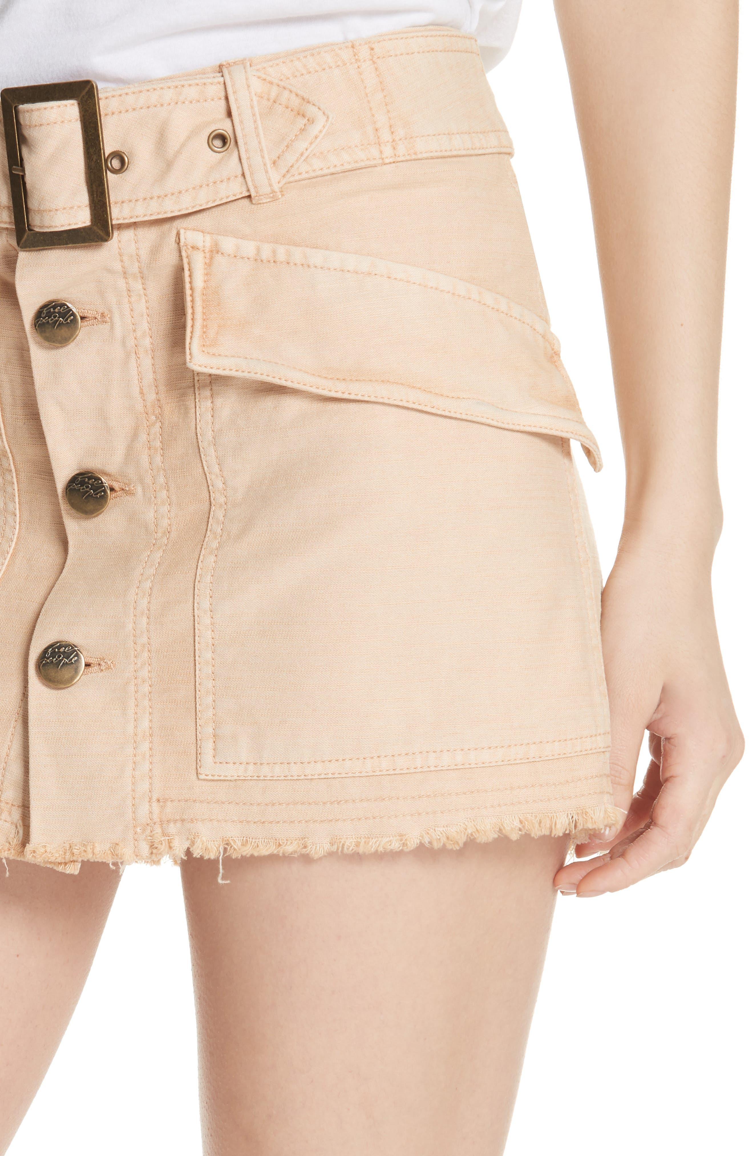 Hangin' On Tight Miniskirt,                             Alternate thumbnail 4, color,                             Nude