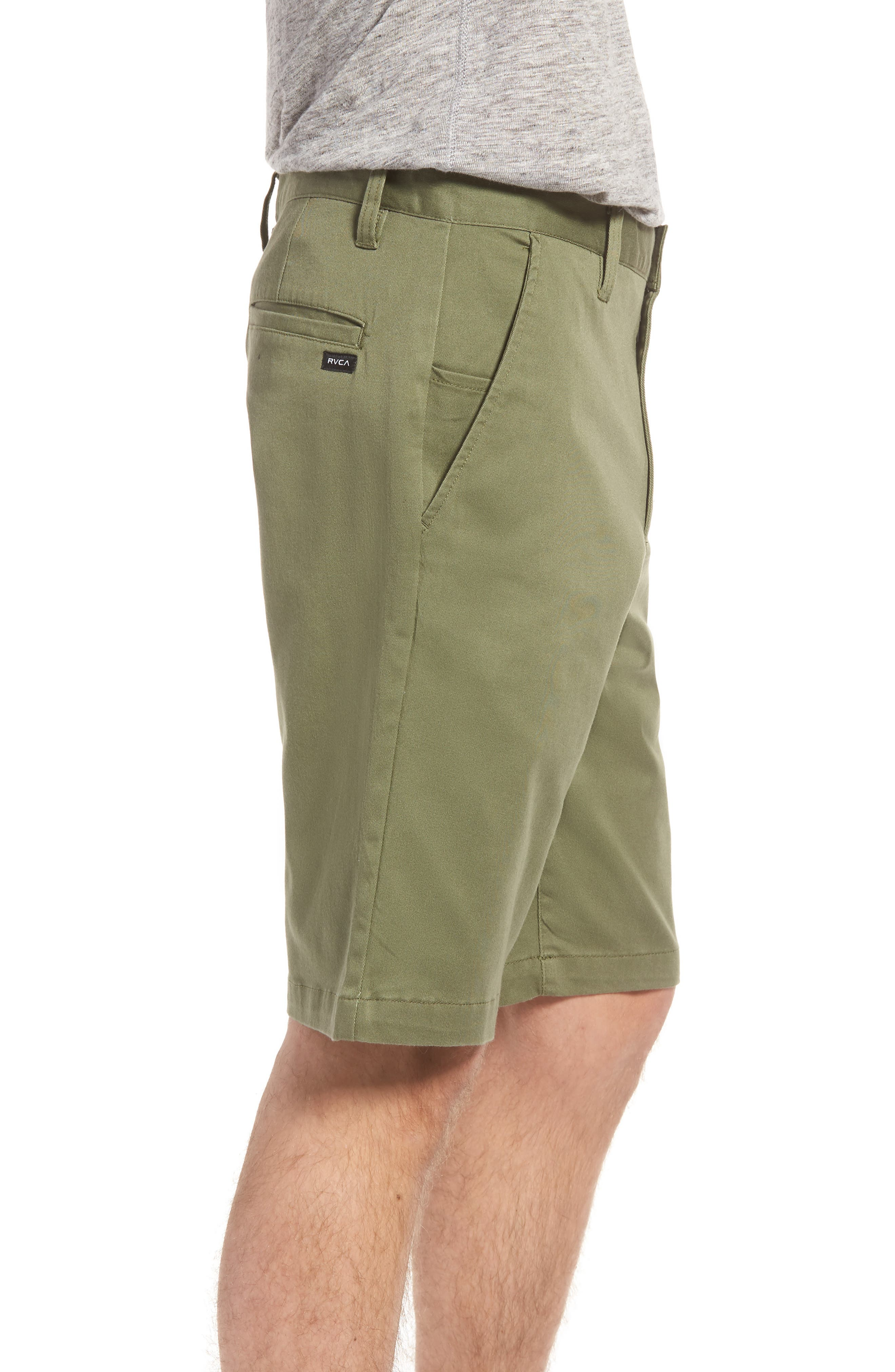 Alternate Image 3  - RVCA The Week-End Stretch Twill Chino Shorts