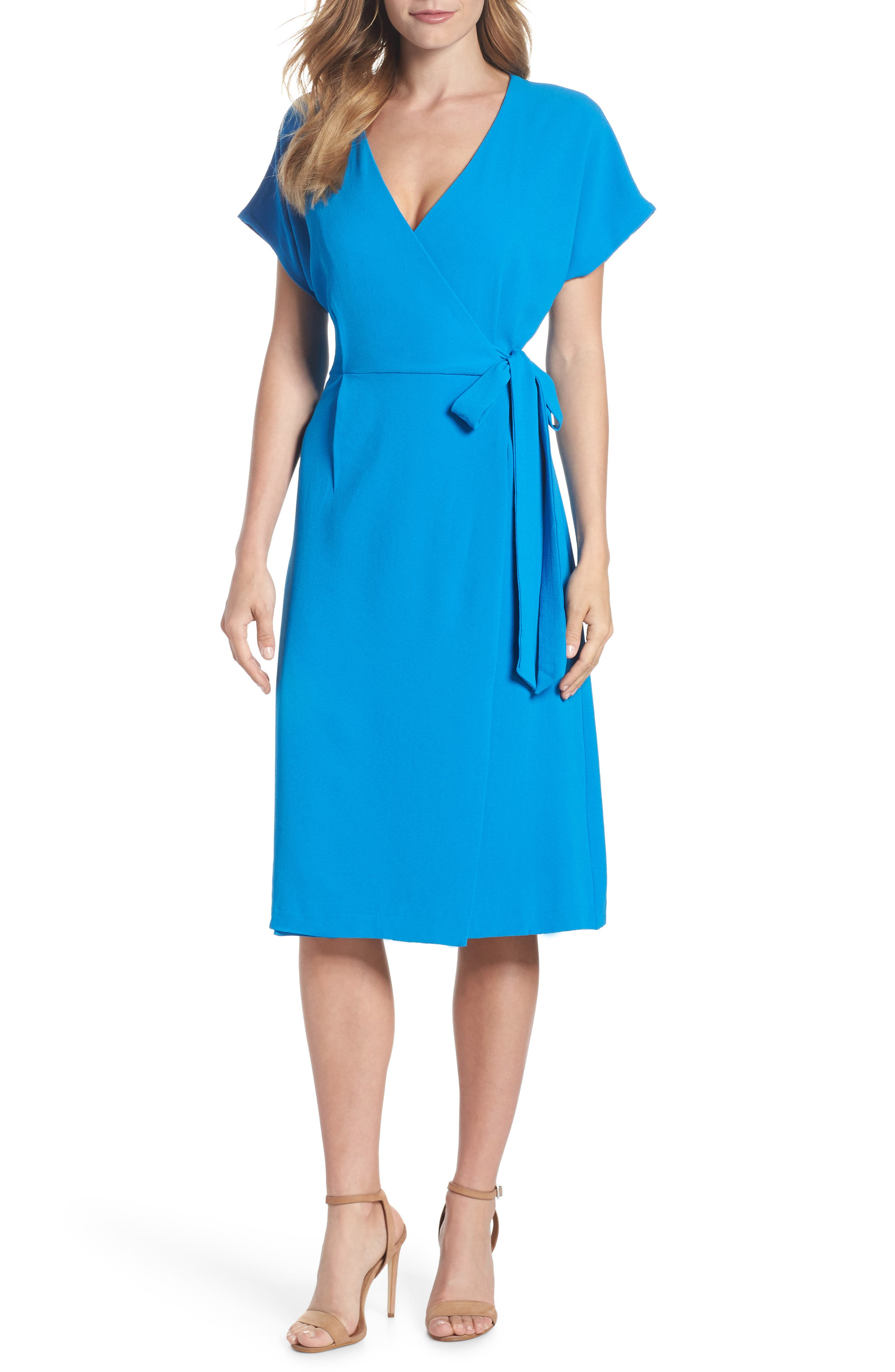 Rita Wrap Dress,                         Main,                         color, Cobalt