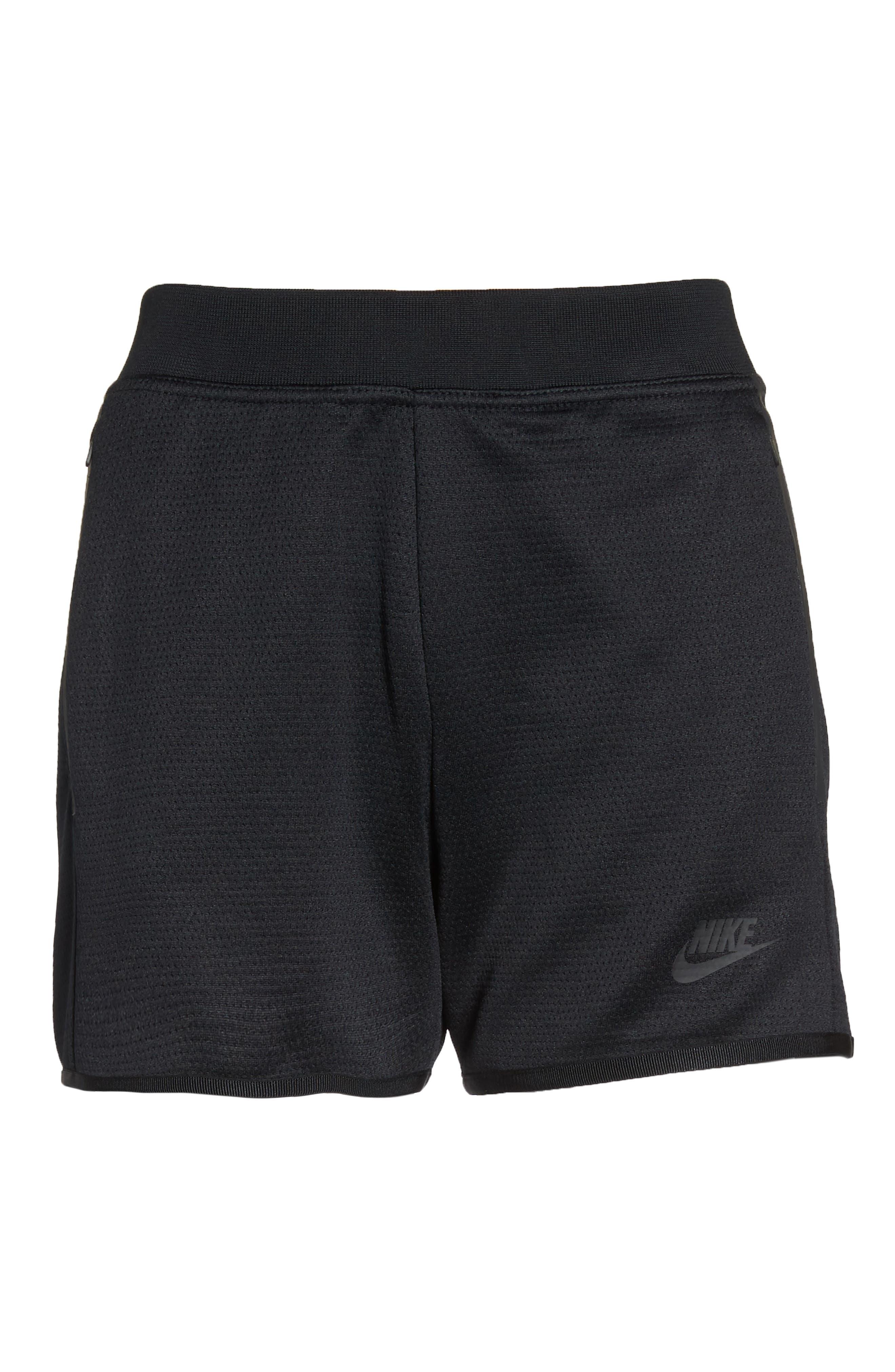 Sportswear Tech Fleece Short,                             Alternate thumbnail 7, color,                             Black/ Black