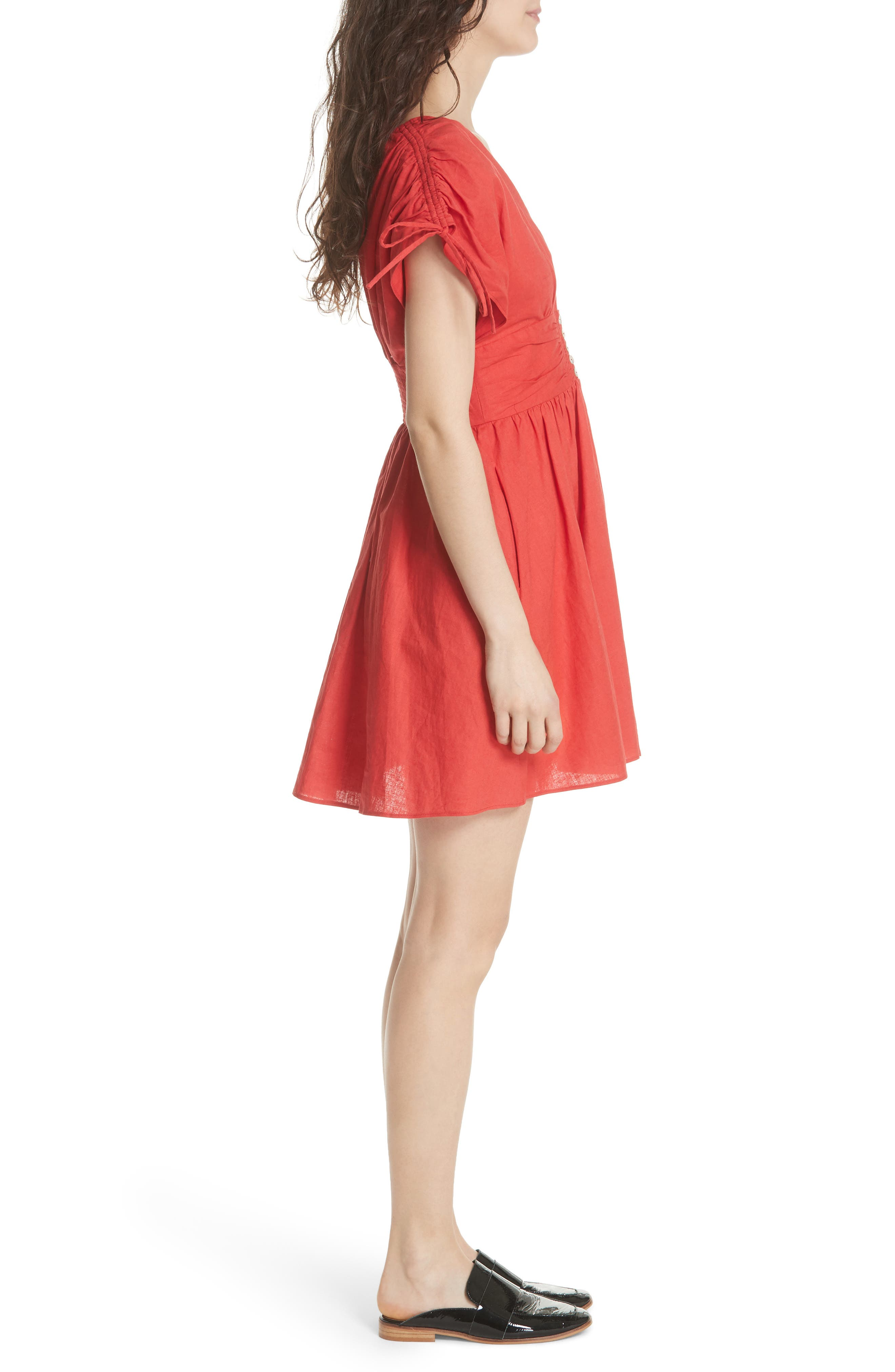 Roll the Dice Minidress,                             Alternate thumbnail 3, color,                             Red