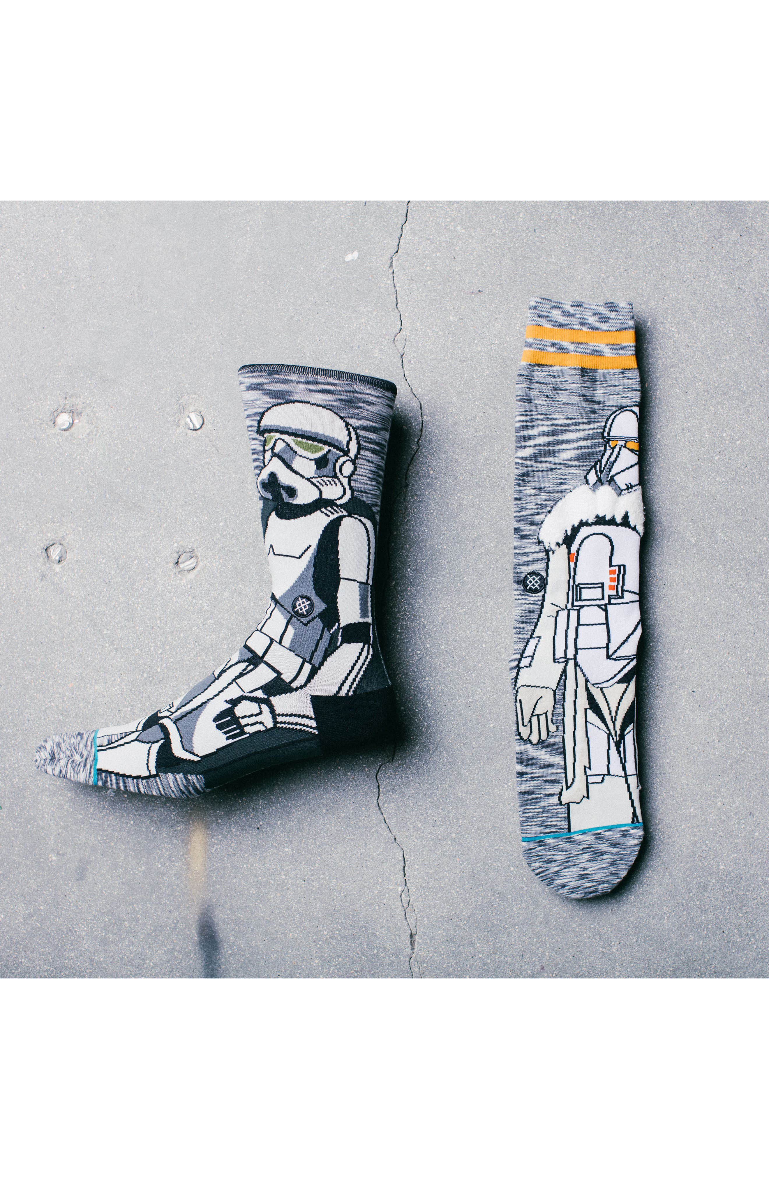 Star Wars Troop Socks,                             Alternate thumbnail 2, color,                             Grey
