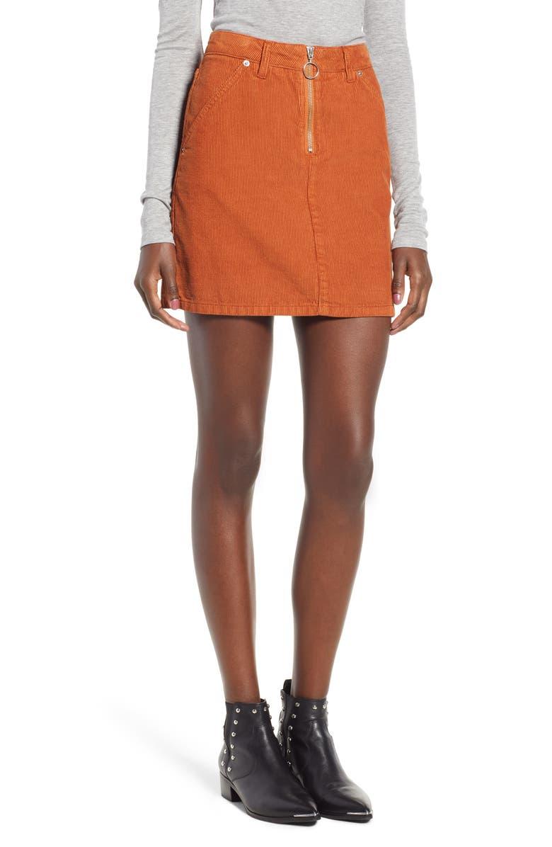Cord Miniskirt