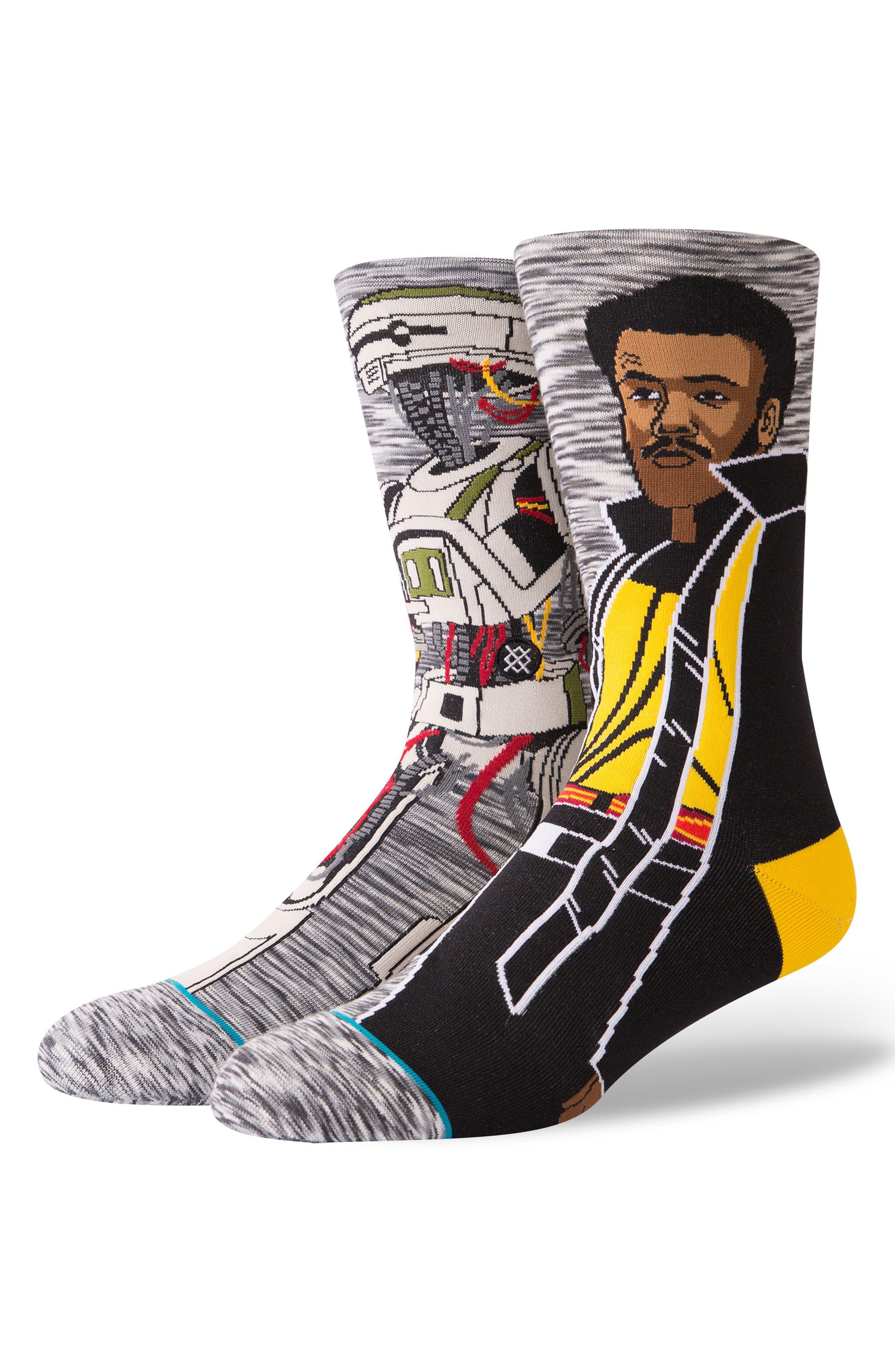 Star Wars Calrissian Socks,                             Main thumbnail 1, color,                             Grey