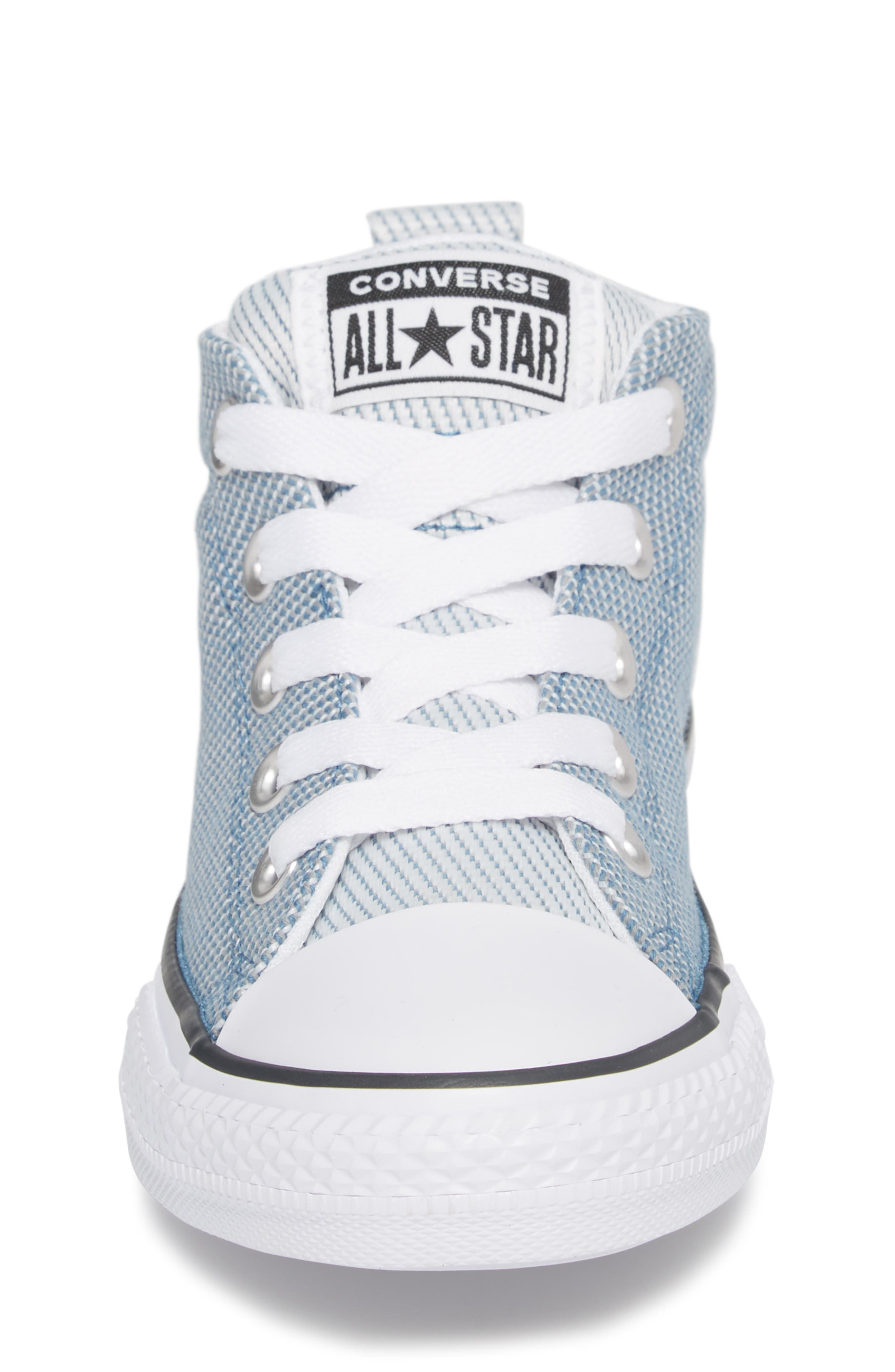 Chuck Taylor<sup>®</sup> All Star<sup>®</sup> Woven Street Mid Sneaker,                             Alternate thumbnail 4, color,                             Aegean Storm