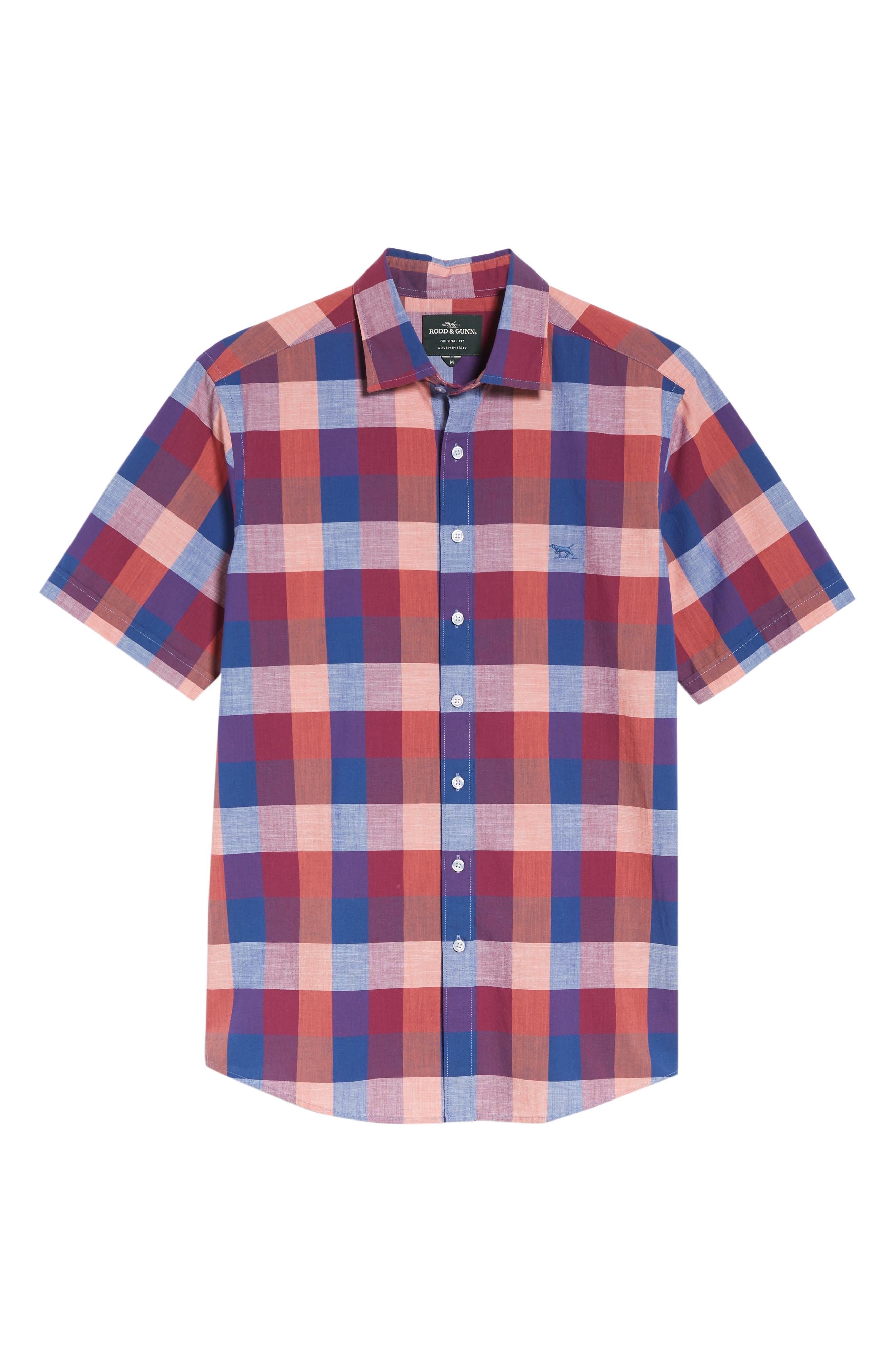 Knighton Regular Fit Sport Shirt,                             Alternate thumbnail 6, color,                             Berry