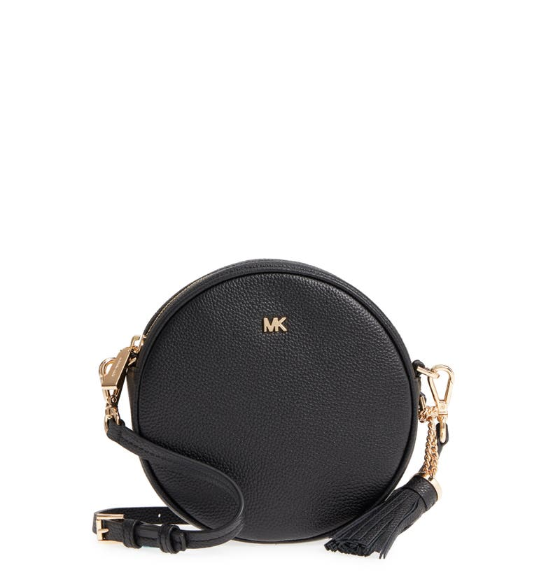 Medium Leather Canteen Bag,                         Main,                         color, Black