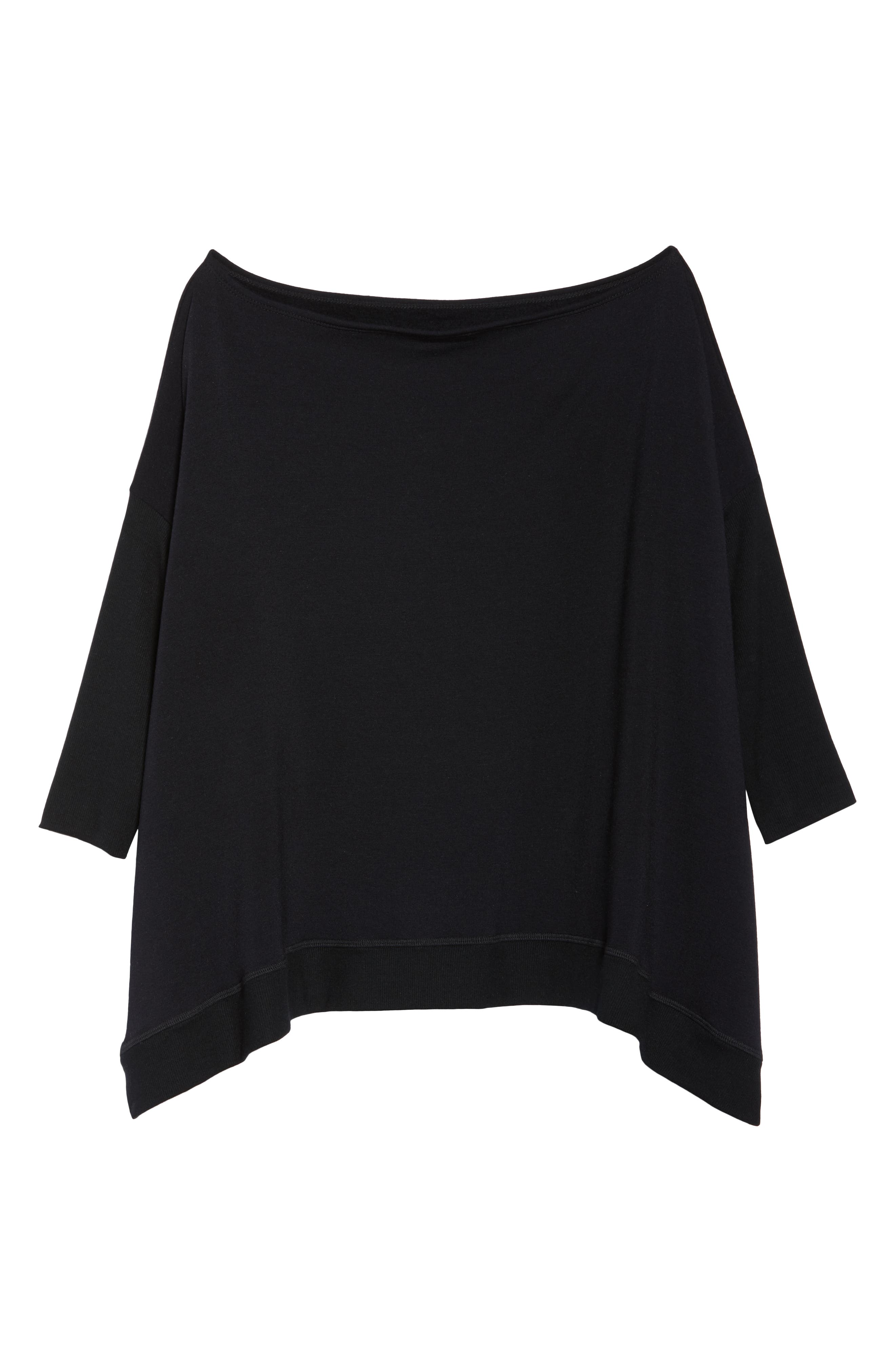 'Cozy' Convertible Fleece Pullover,                             Alternate thumbnail 8, color,                             Black