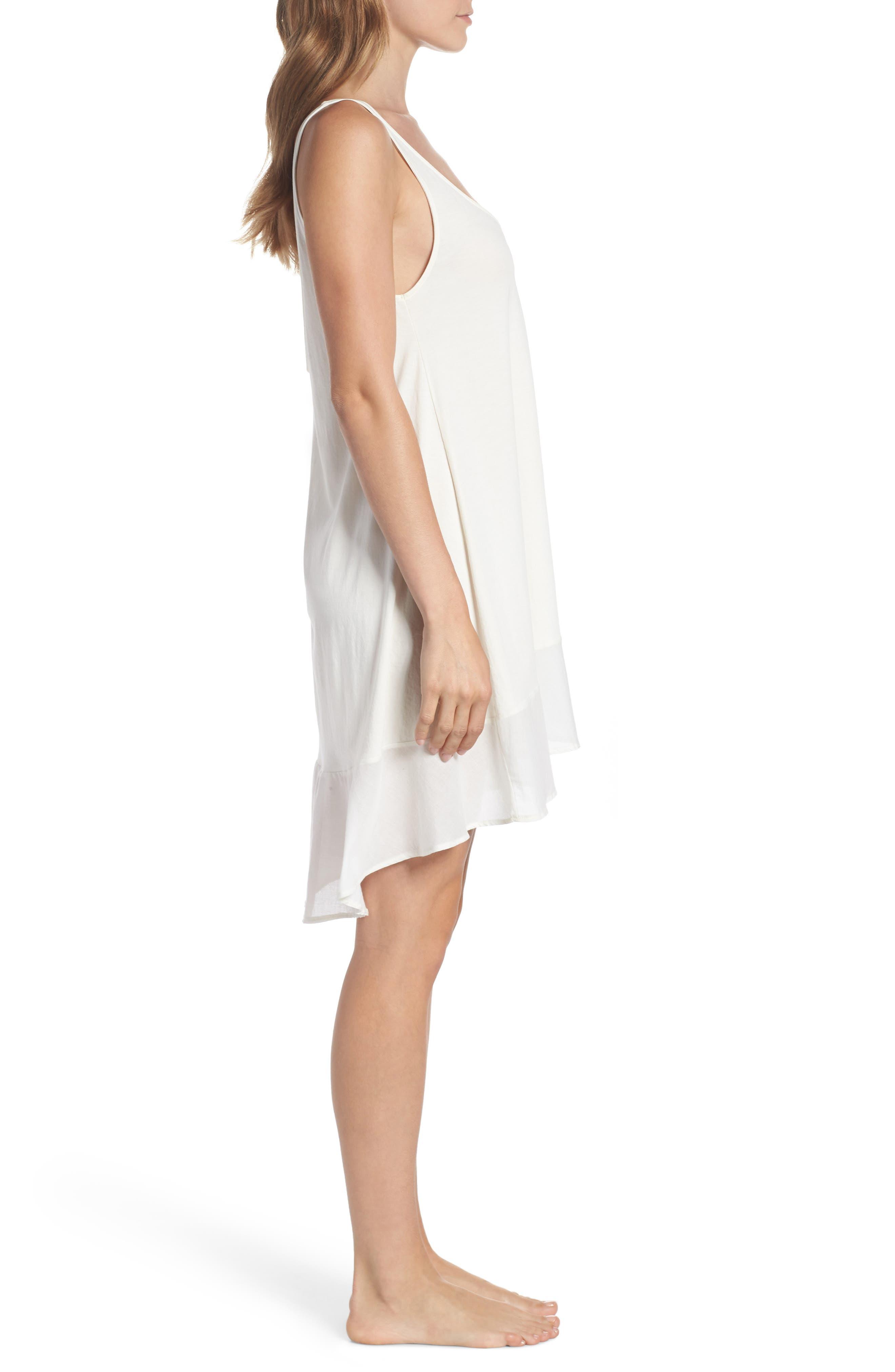 Bettina Pima Cotton Voile Nightgown,                             Alternate thumbnail 3, color,                             Gardenia