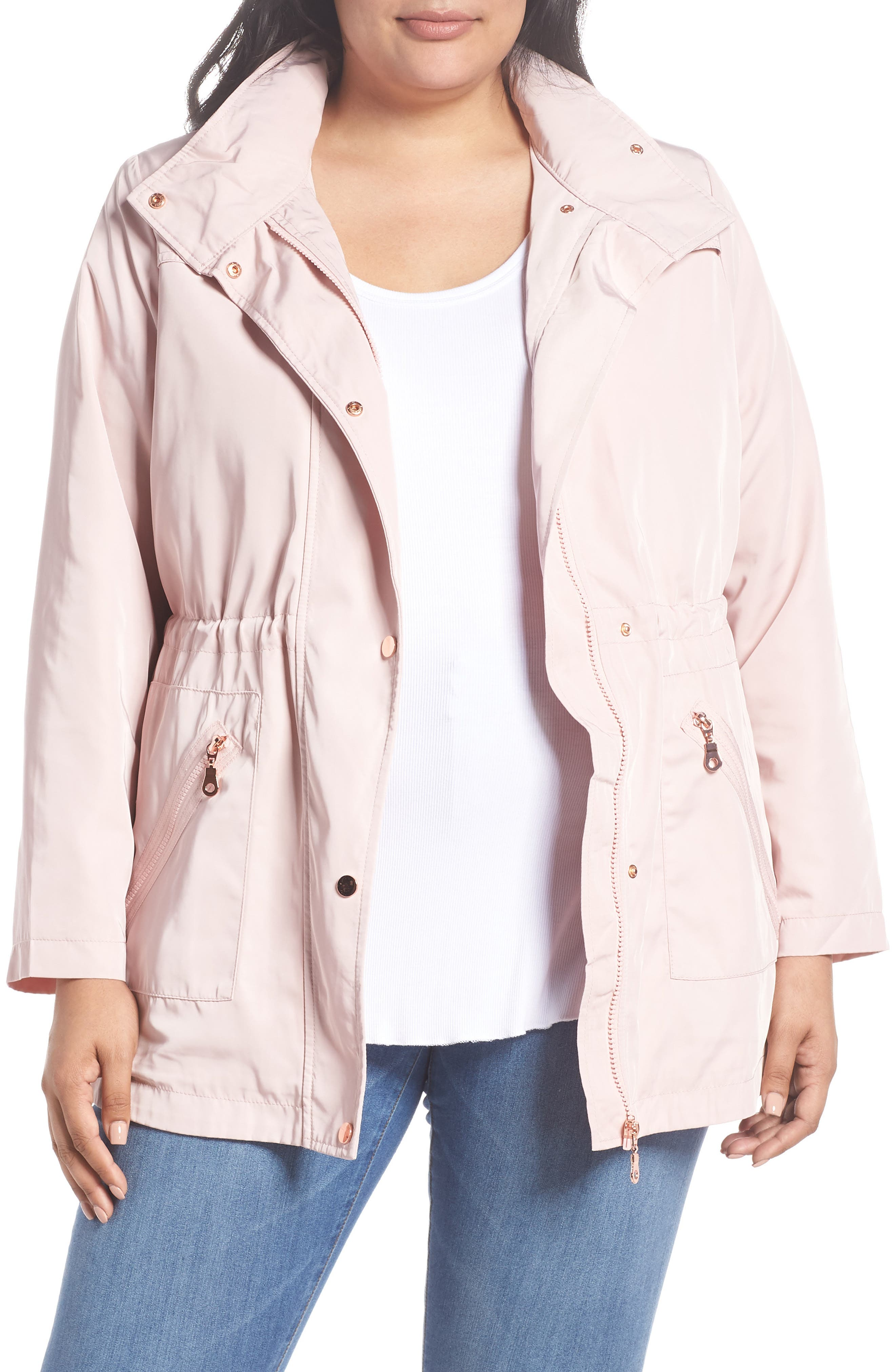 Evans Zip Trim Jacket (Plus Size)