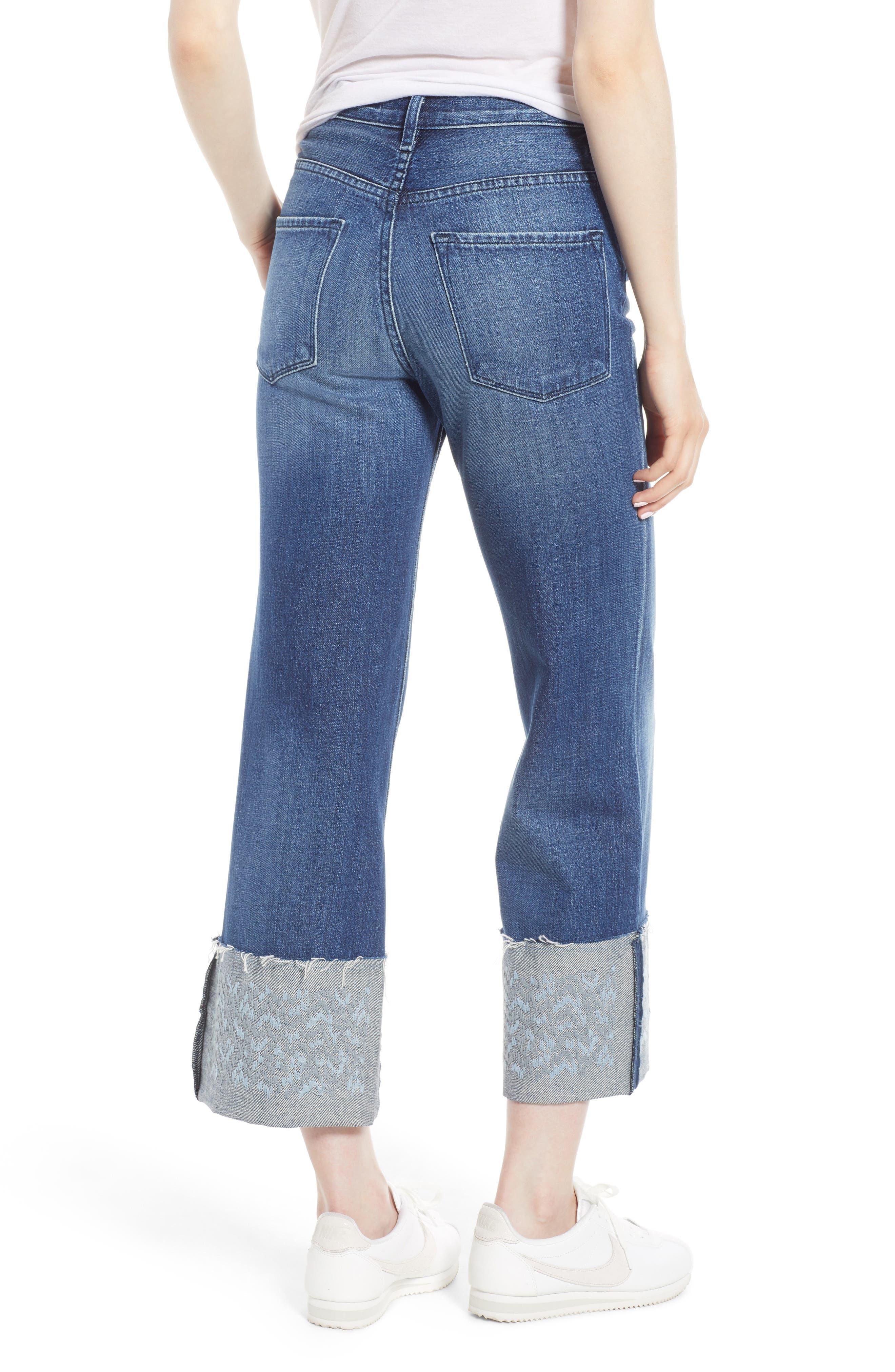 Joan High Waist Crop Wide Leg Jeans,                             Alternate thumbnail 2, color,                             Revive