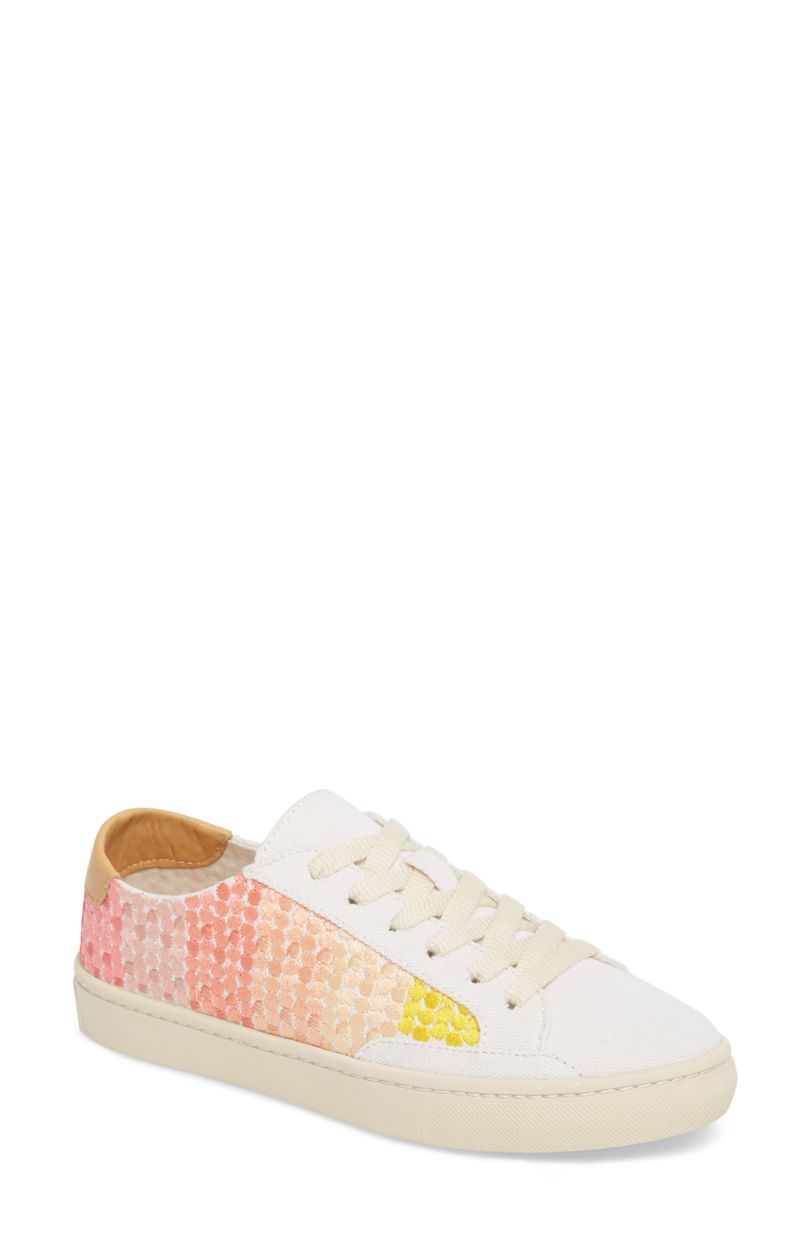 Embroidered Ombre Sneaker,                             Main thumbnail 1, color,                             Sunshine