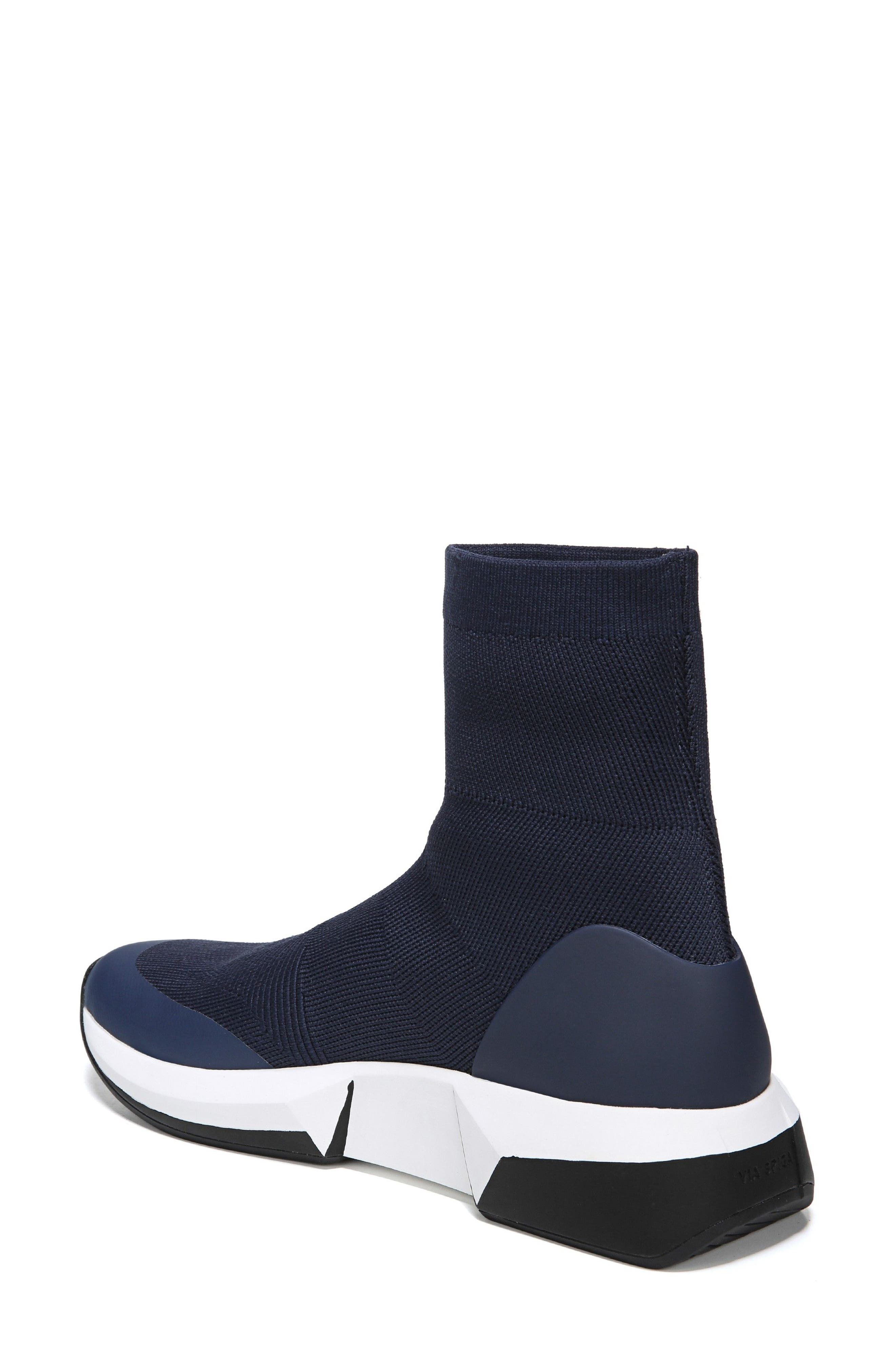 Verion High Top Sock Sneaker,                             Alternate thumbnail 2, color,                             Sapphire Fabric