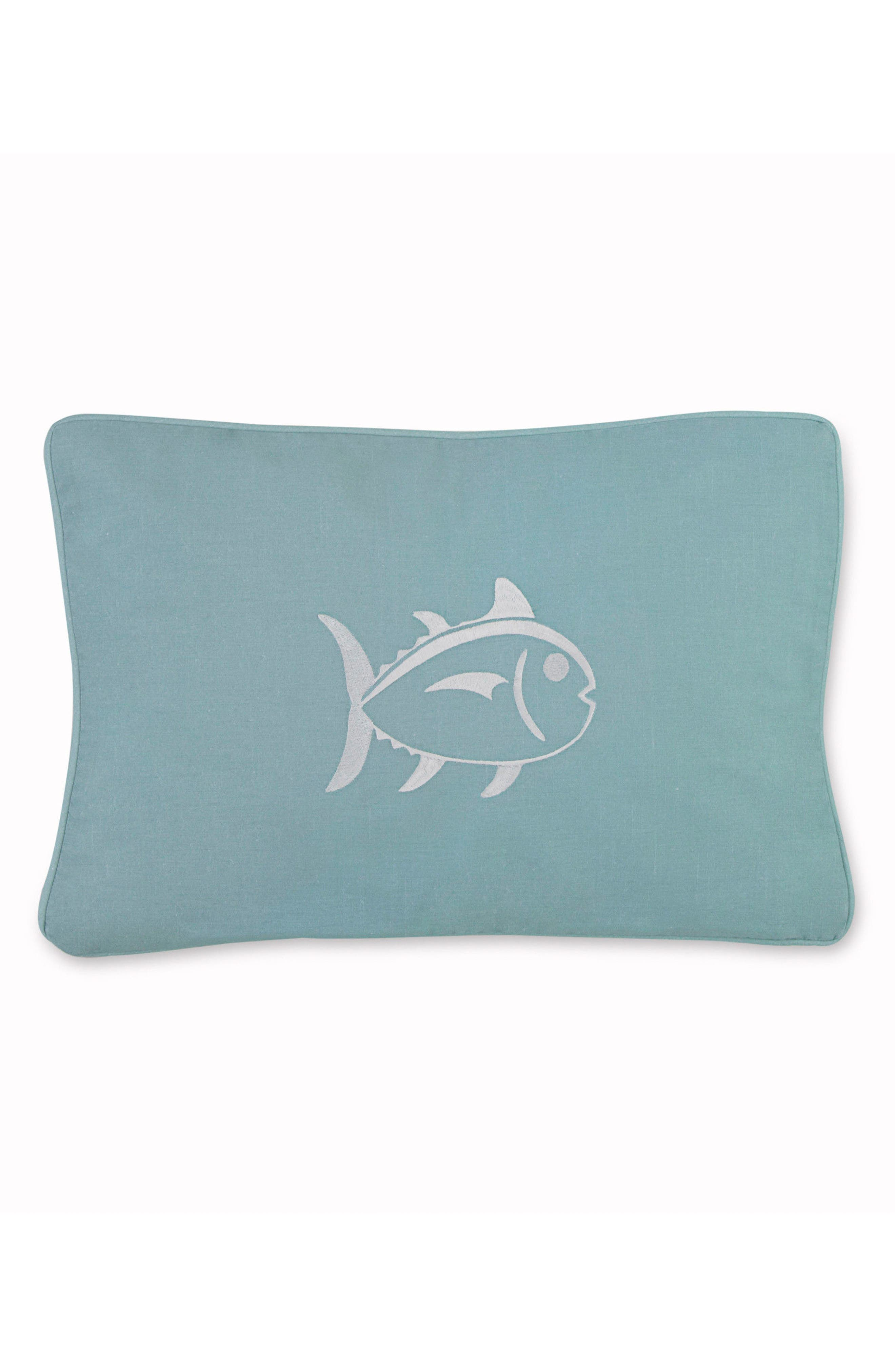Tropical Retreat Skipjack Accent Pillow,                         Main,                         color, Turquoise