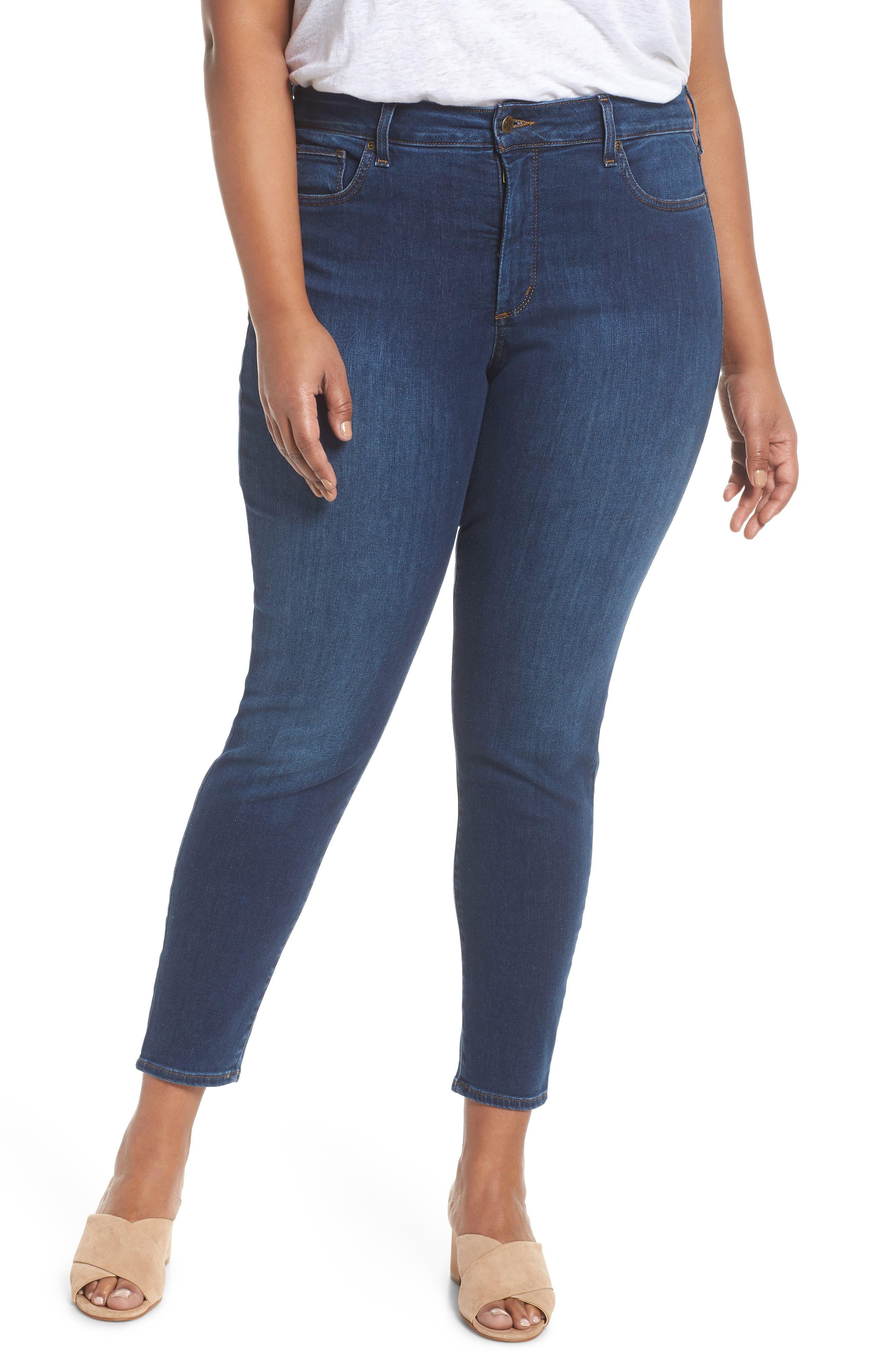 NYDJ Ami Stretch Skinny Jeans (Cooper) (Plus Size)