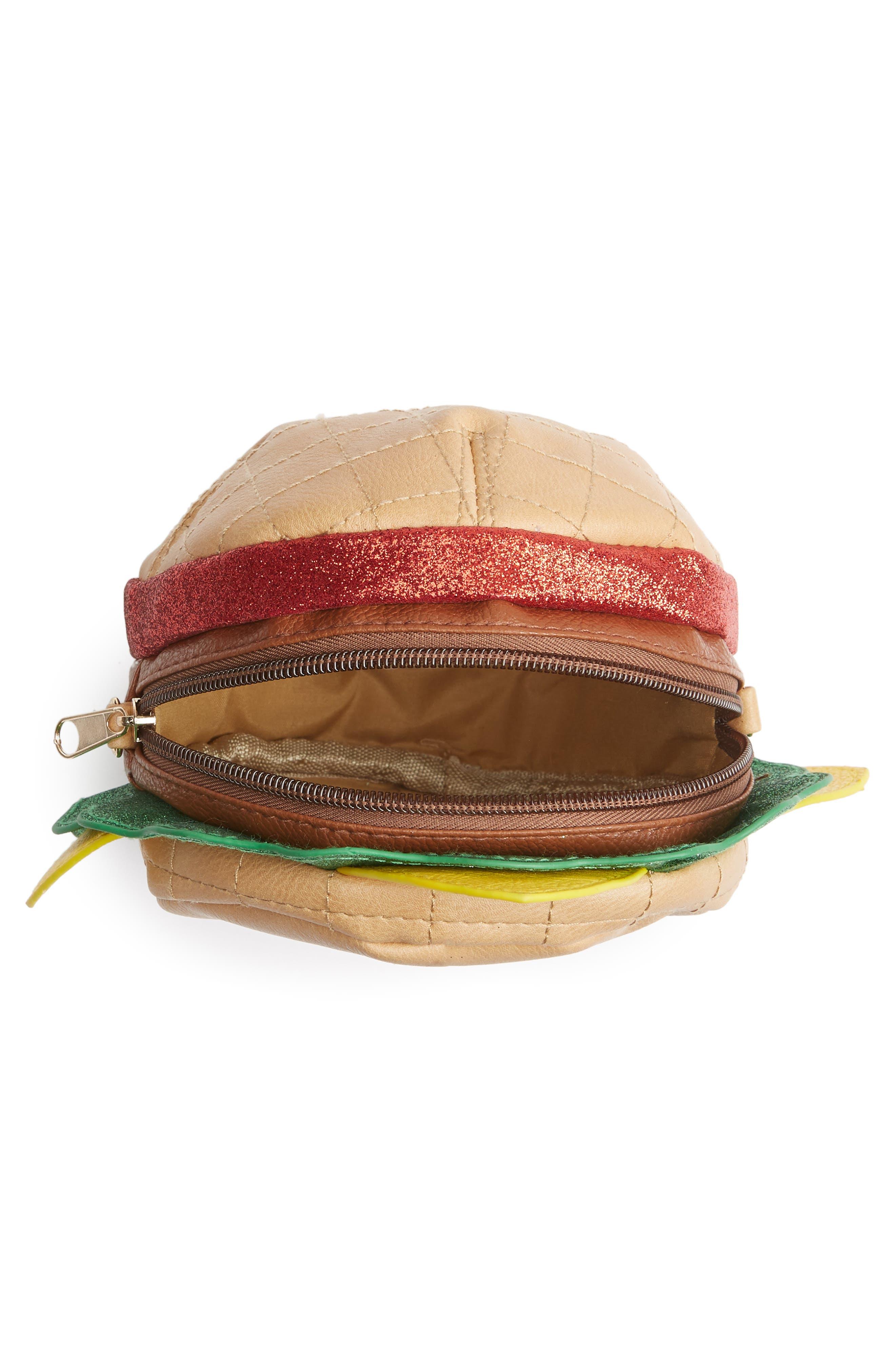 Hamburger Crossbody Bag,                             Alternate thumbnail 4, color,                             Multi Combo