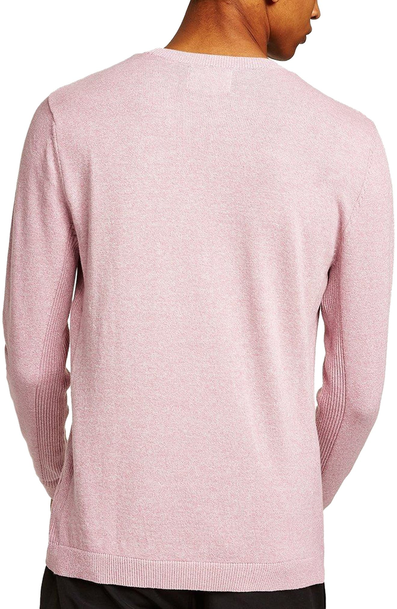 Side Rib Cotton Sweater,                             Alternate thumbnail 2, color,                             Purple