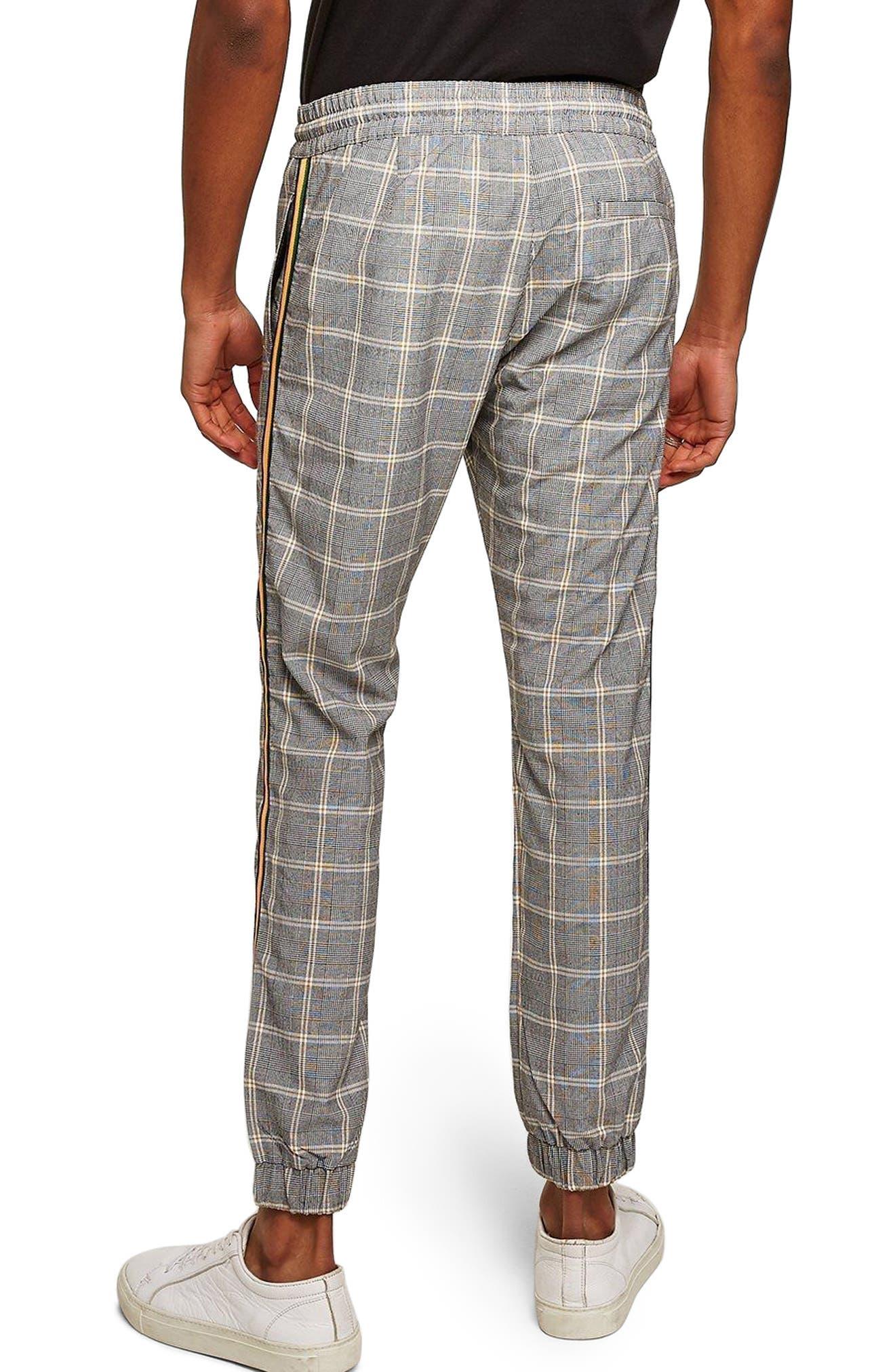 Check Skinny Fit Jogger Pants,                             Alternate thumbnail 2, color,                             Stone