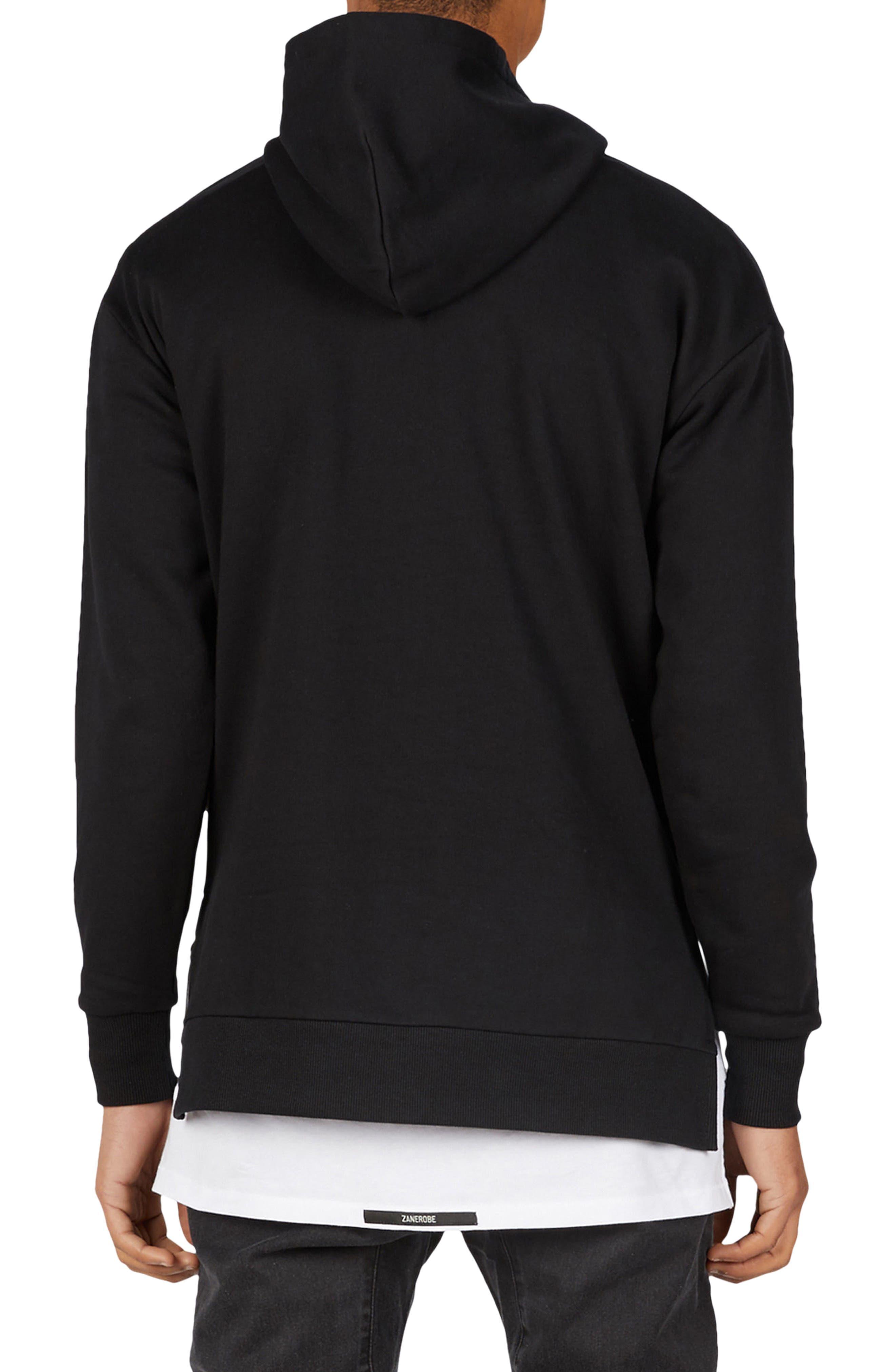 Season Rugger Hooded Sweatshirt,                             Alternate thumbnail 2, color,                             Black