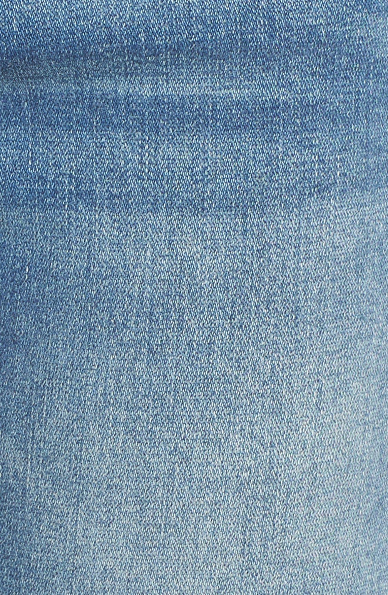 Marley Tulip Hem Ankle Skinny Jeans,                             Alternate thumbnail 6, color,                             Dark Wash