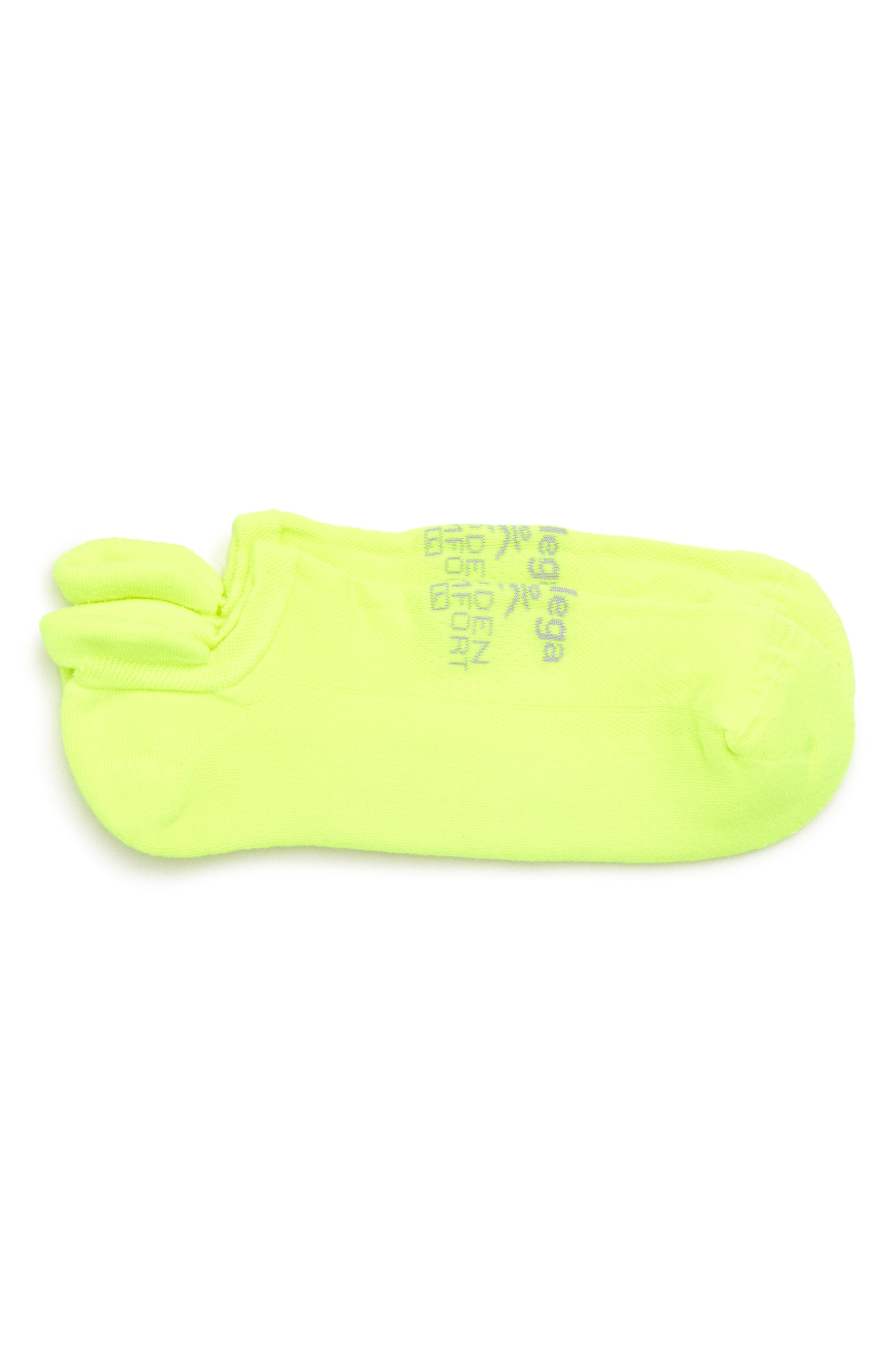 Hidden Comfort Socks,                             Main thumbnail 1, color,                             Zesty Lemon
