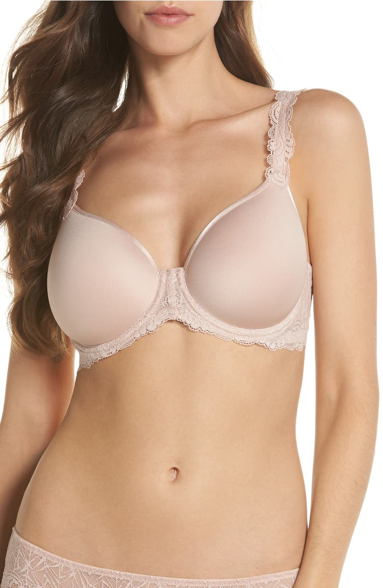 97b7fabc56 Wacoal Vivid Encounter Lightweight Contour Spacer Underwire Bra In Rose Dust