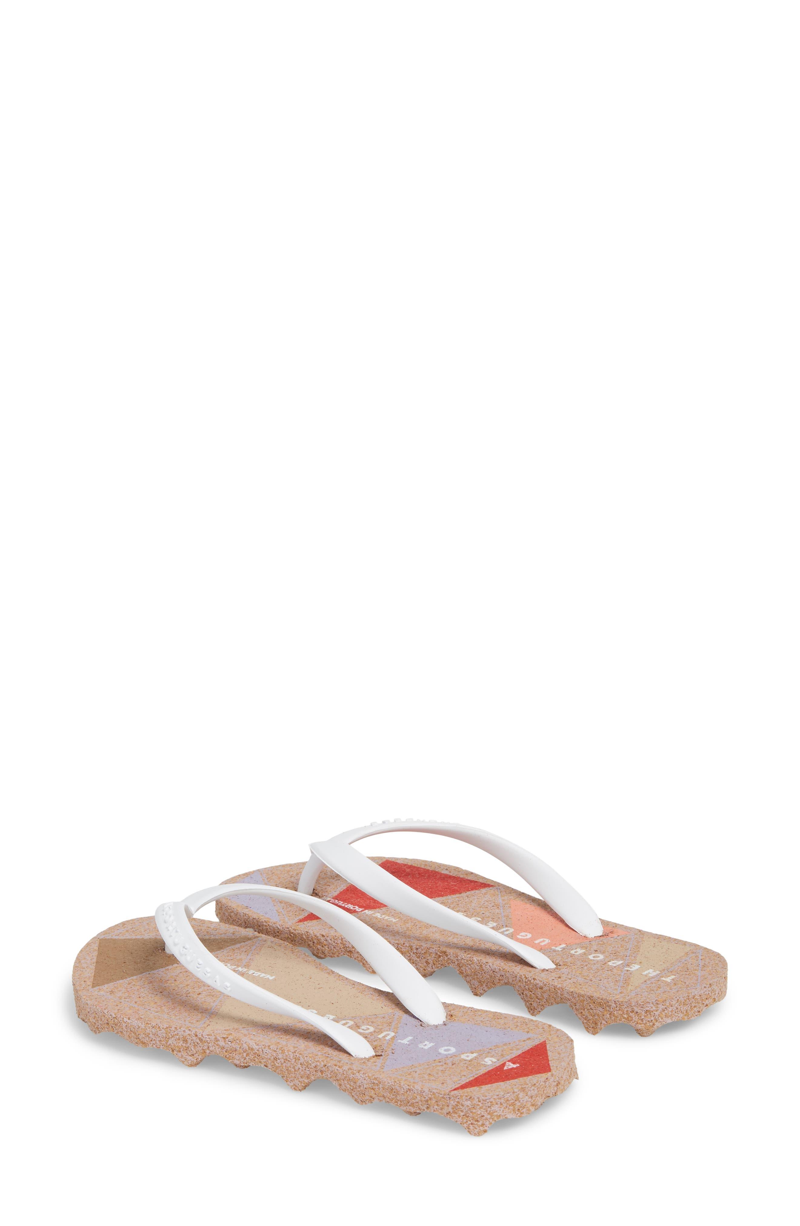 Spot 002 Flip Flop,                             Alternate thumbnail 2, color,                             White/ Rose Fabric