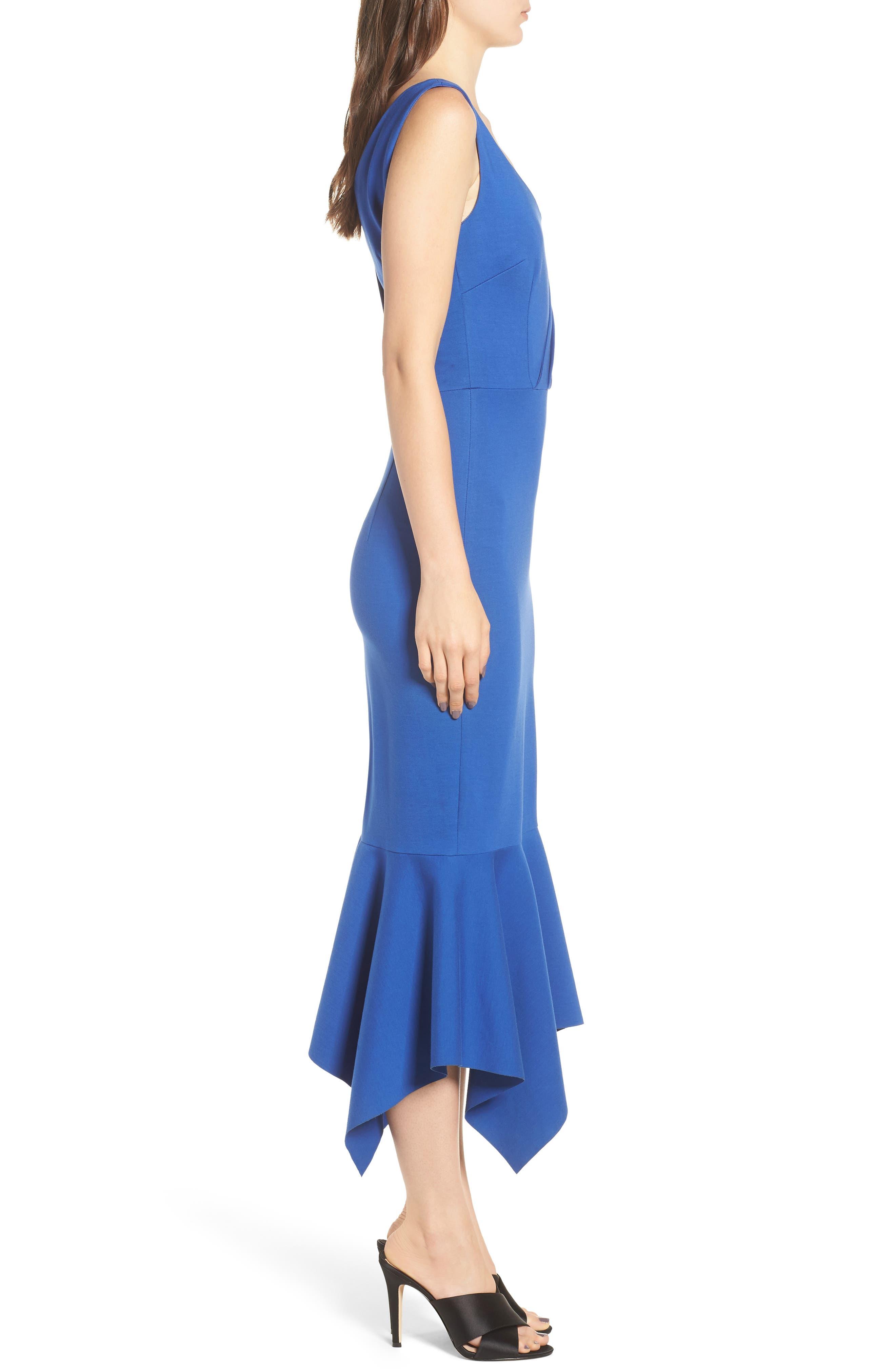 Viola Asymmetrical Dress,                             Alternate thumbnail 3, color,                             Cobalt