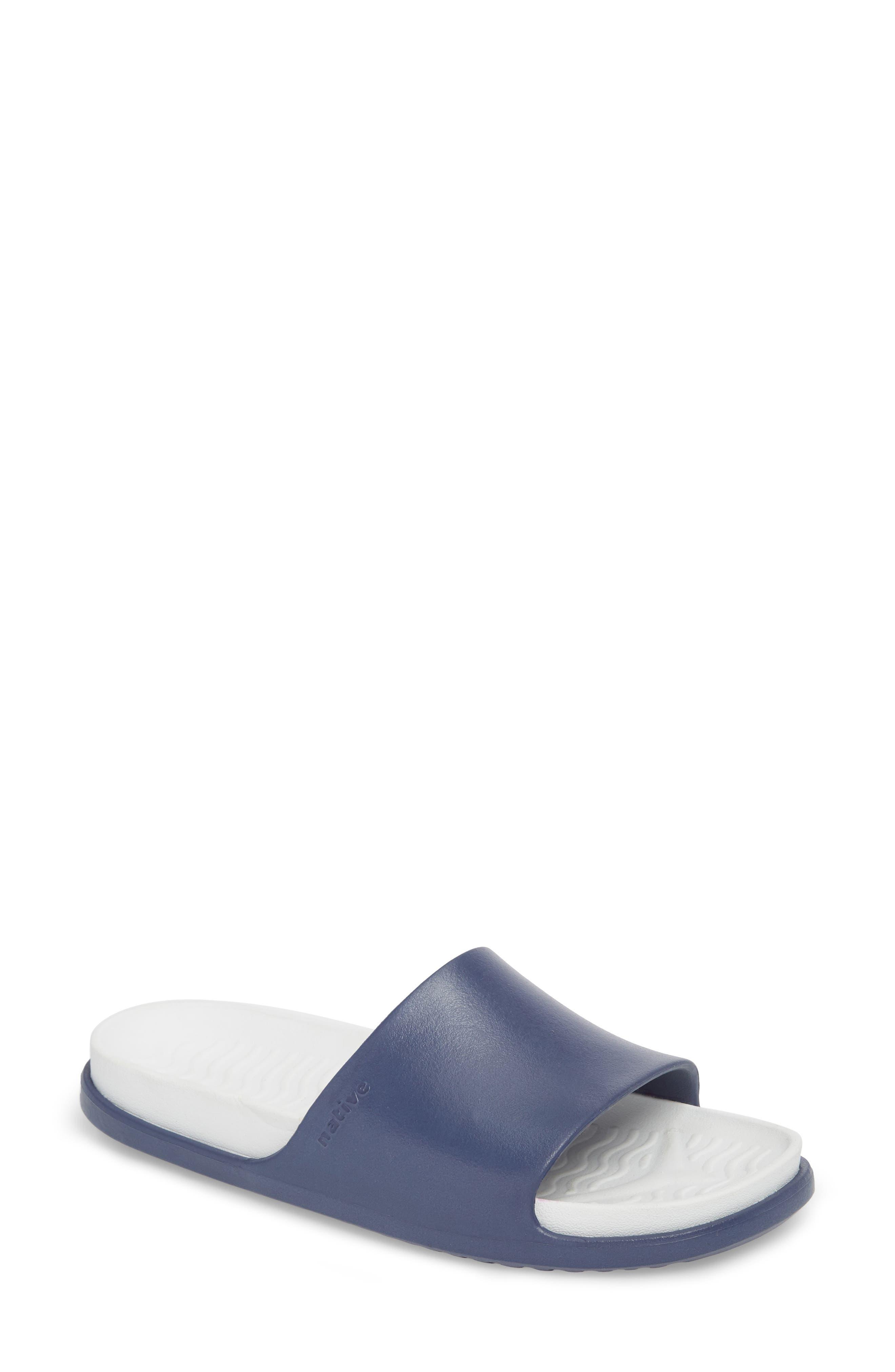 Spencer LX Sport Slide,                             Main thumbnail 1, color,                             Regatta Blue/ Shell White