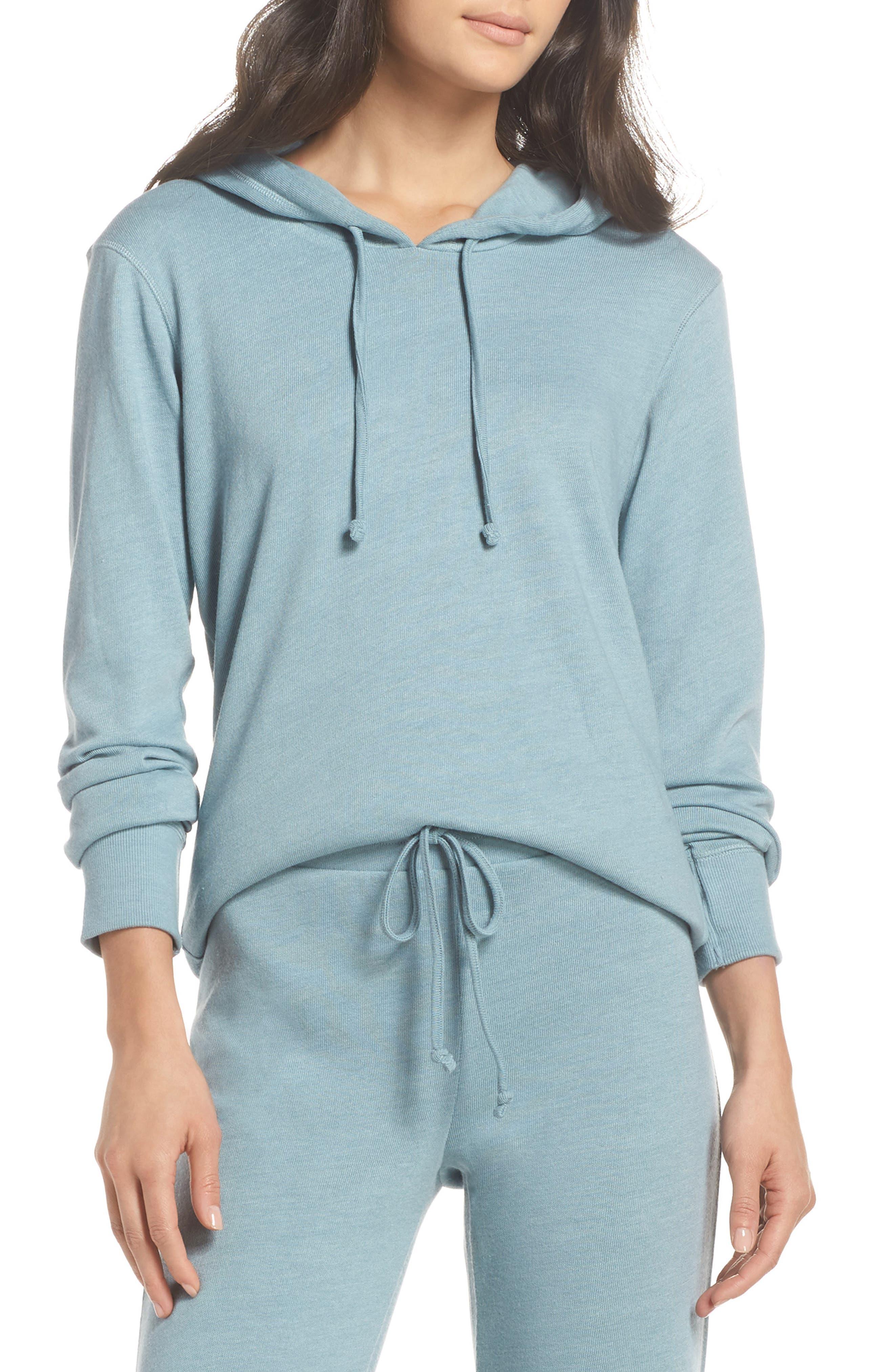 Cozy Pullover Hoodie, Main, color, Smoke Blue