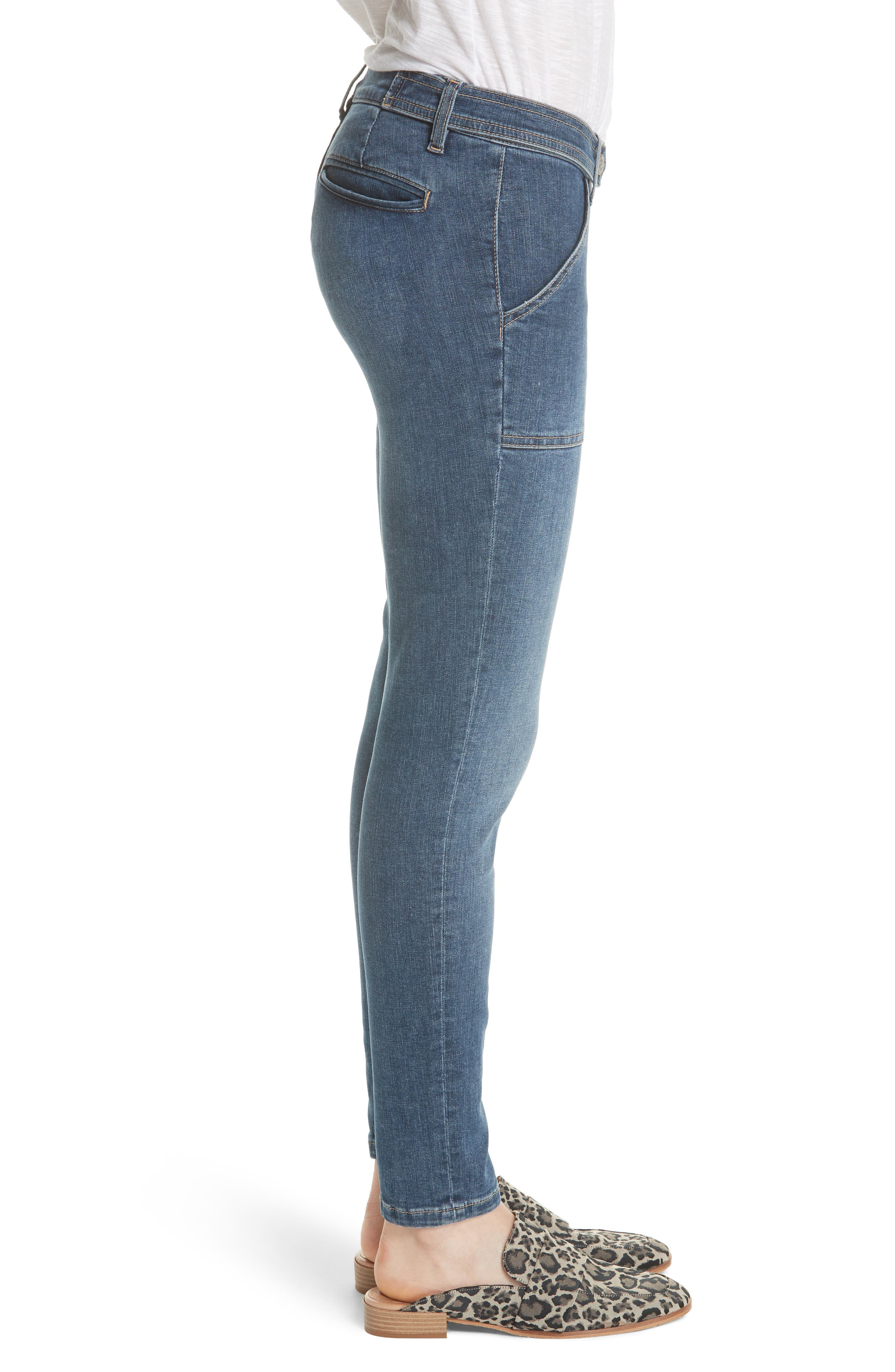 We the Free by Free People Stratford Skinny Jeans,                             Alternate thumbnail 3, color,                             Blue