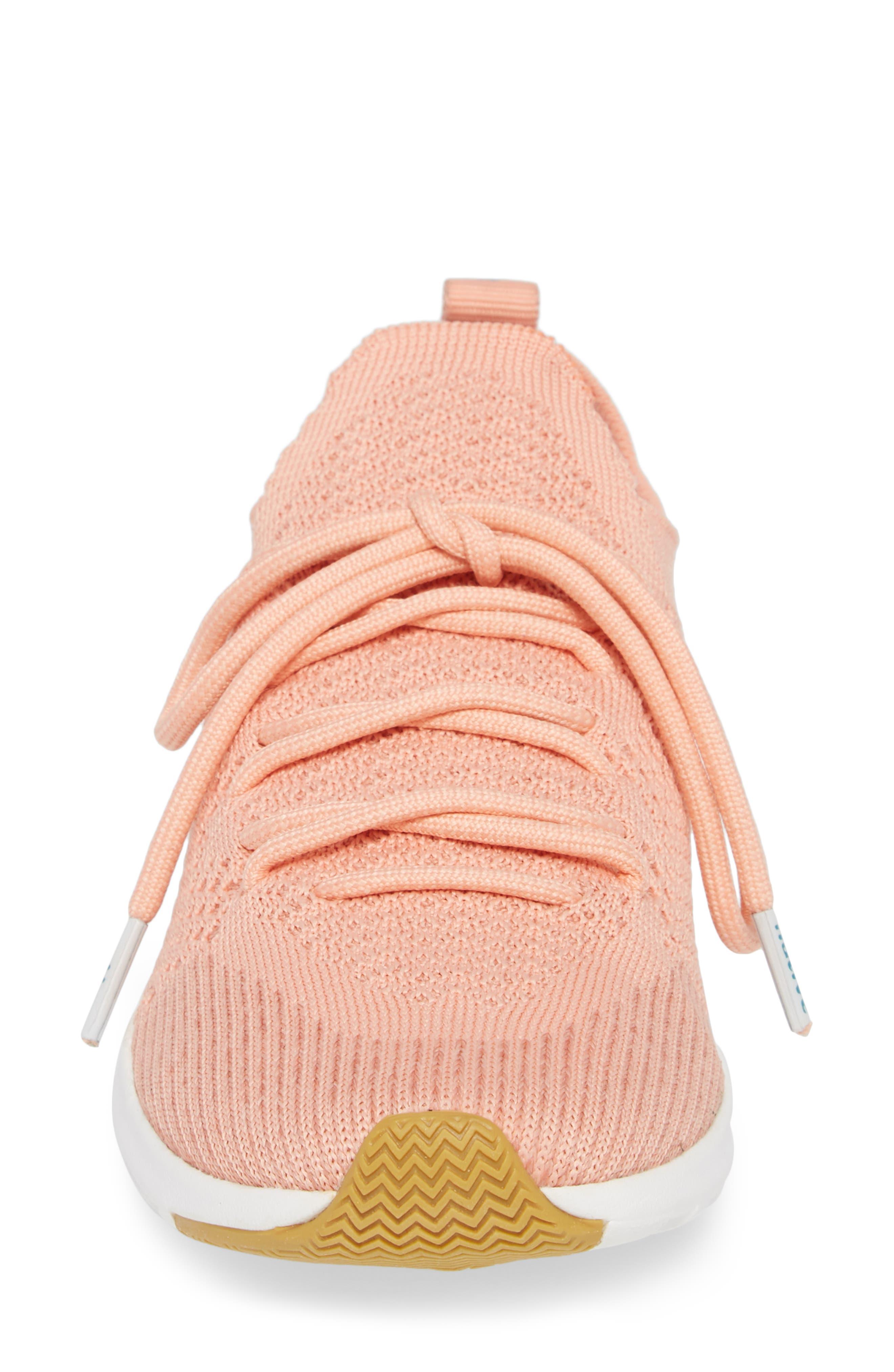AP Mercury Liteknit Sneaker,                             Alternate thumbnail 4, color,                             Clay Pink/ Shell White