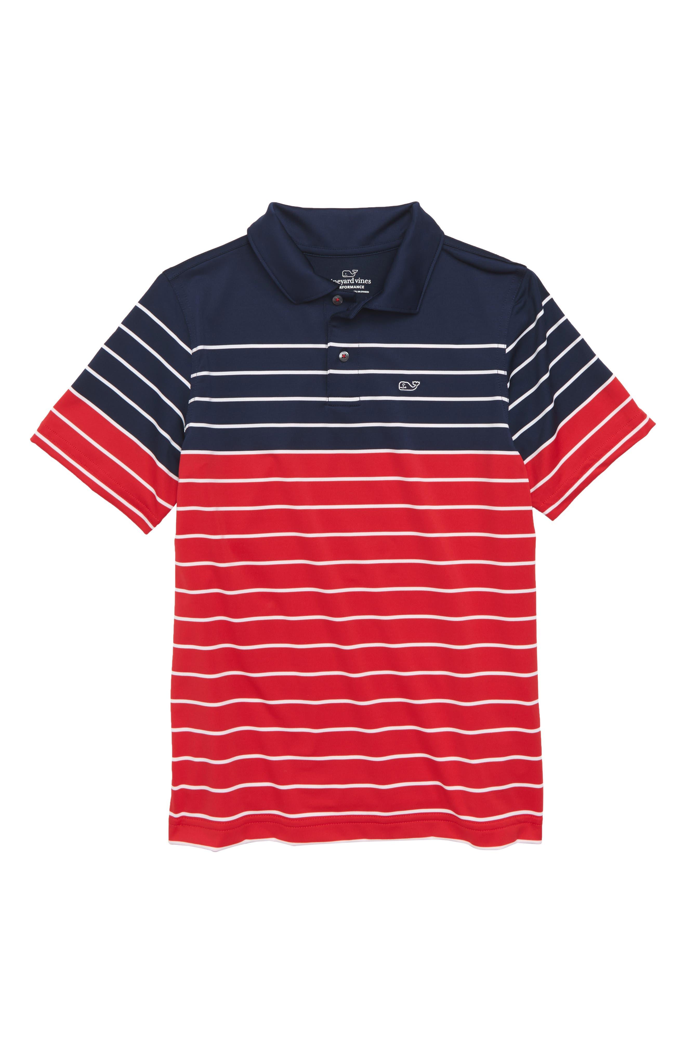 Sankaty Stripe Performance Polo,                         Main,                         color, Deep Bay