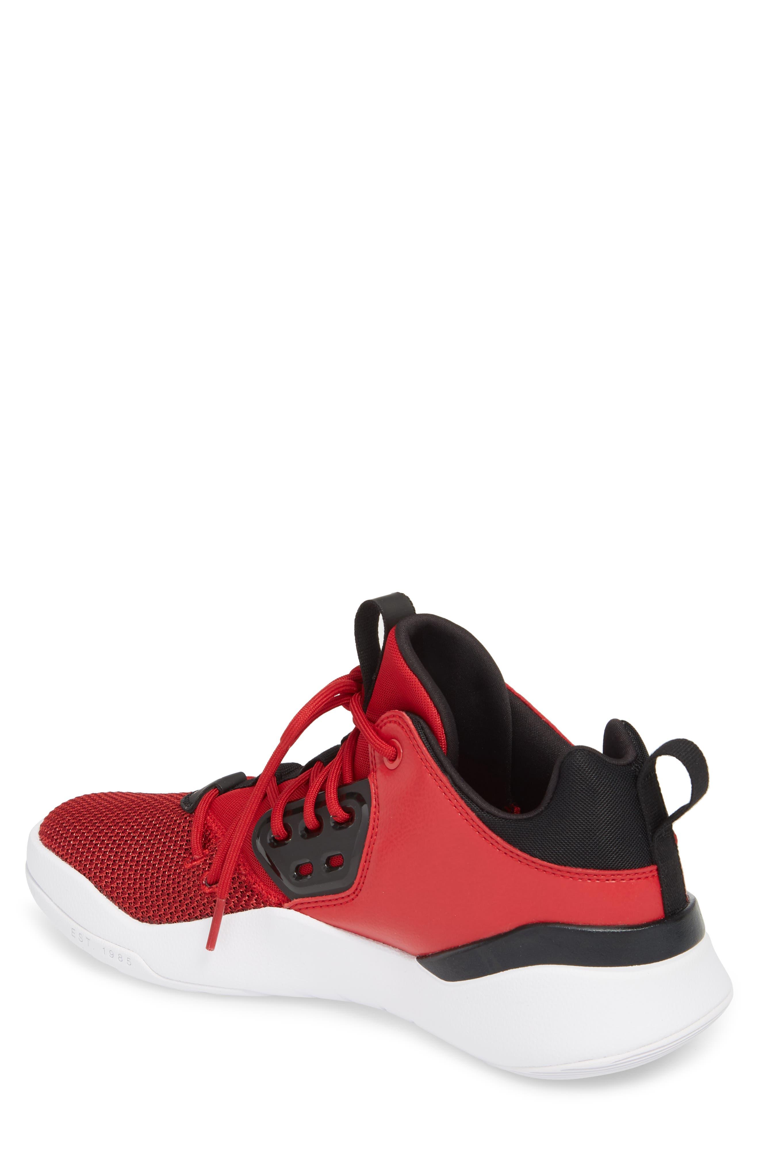 Jordan DNA Sneaker,                             Alternate thumbnail 2, color,                             Gym Red/ Black/ White